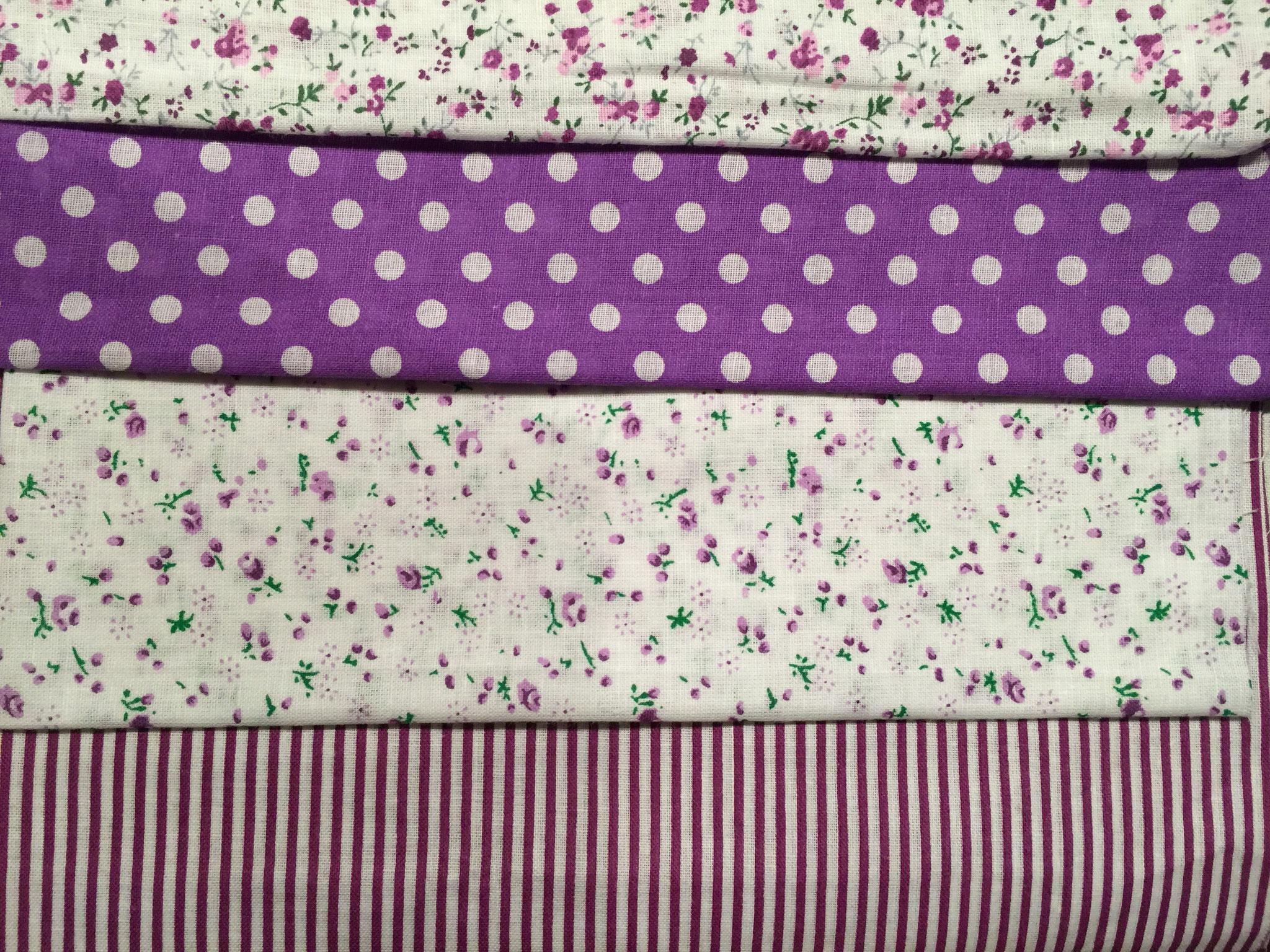 7 Stoffe in violett