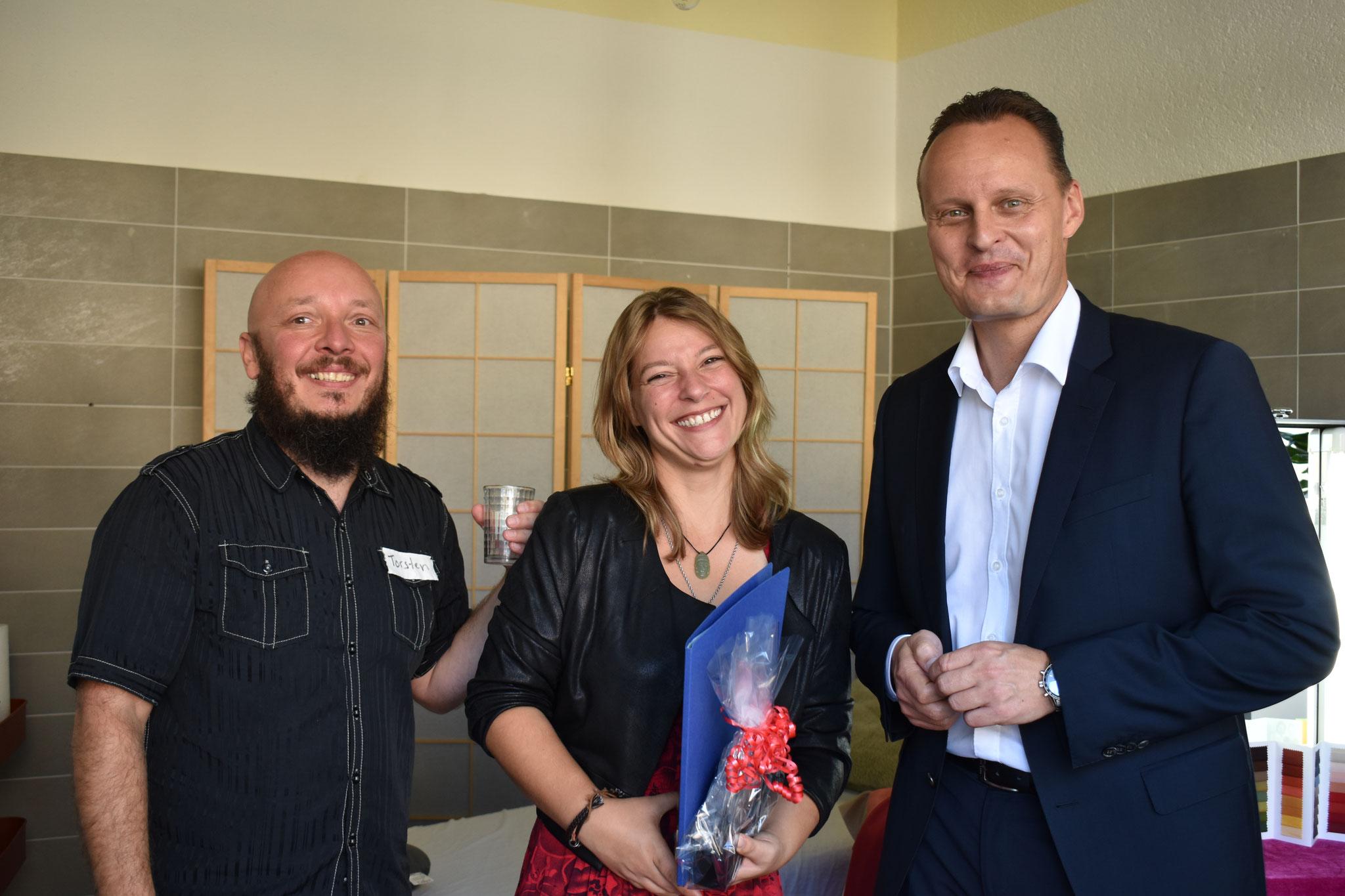 Marco Rutter neuer Bürgermeister von Petershagen-Eggersdorf gratuliert