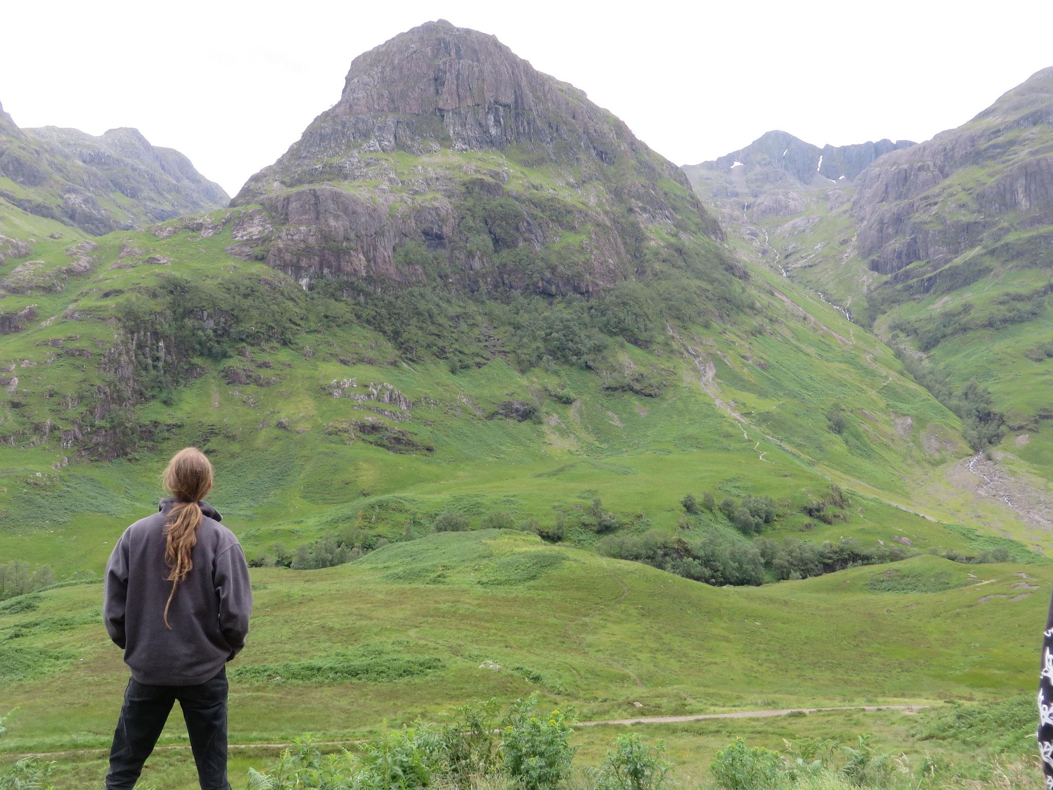 Mitten im Glencoe, Schottland