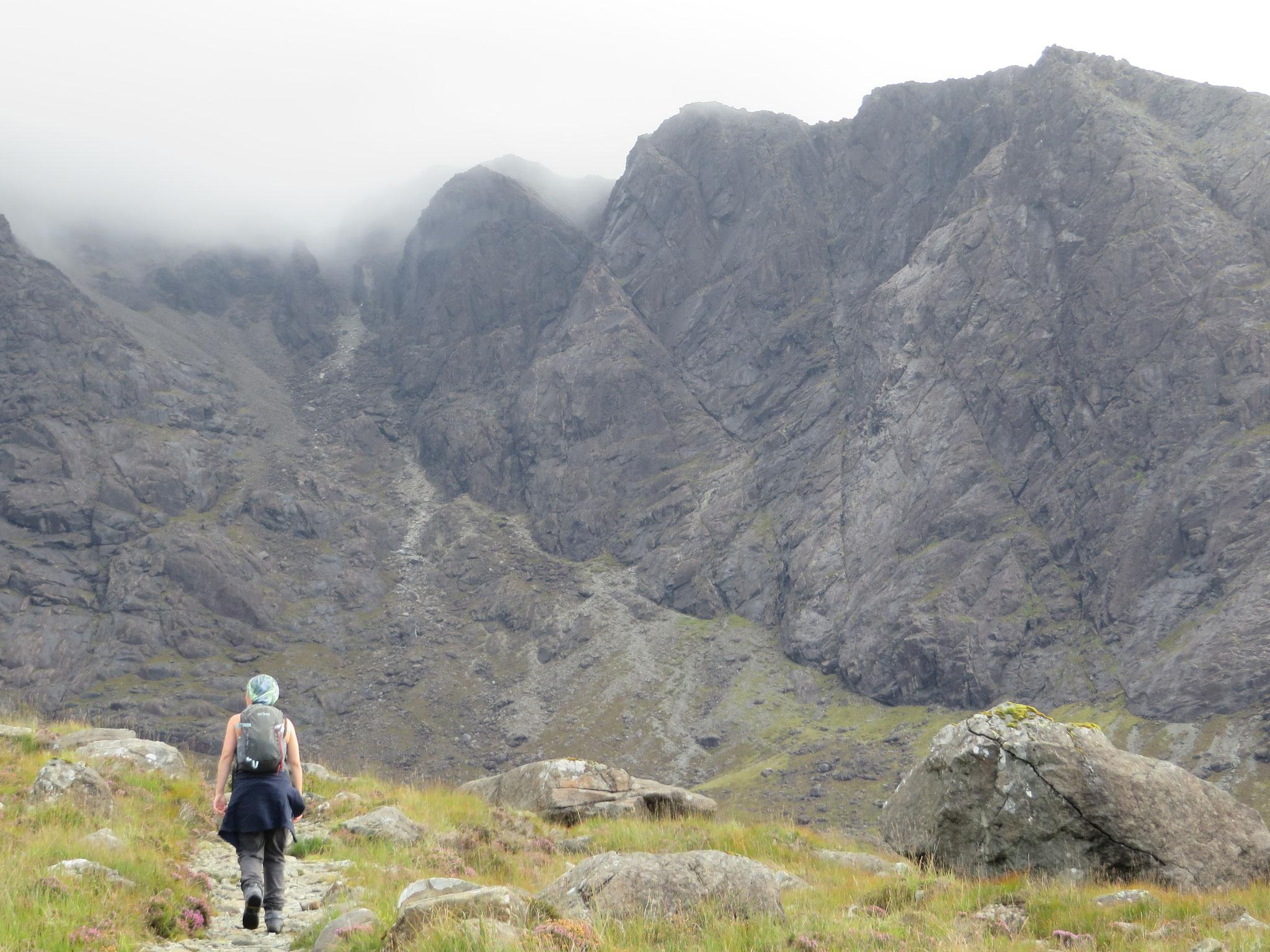 Bergwandern in den Black Cuillins auf der Isle of Skye