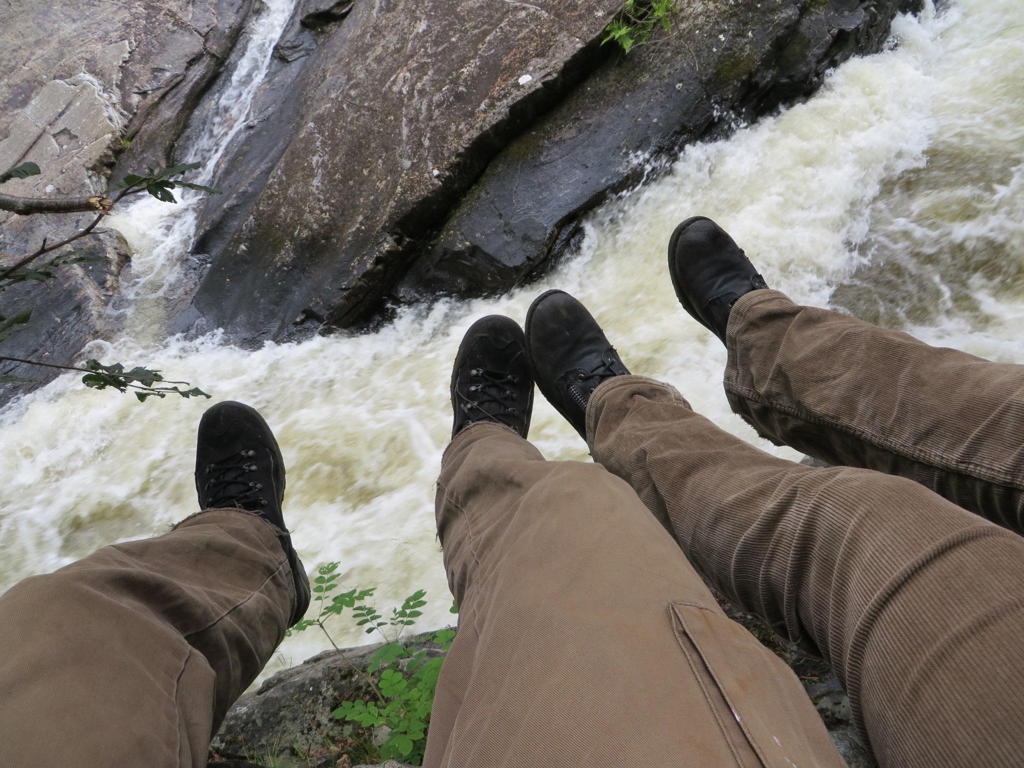Kleine Pause  an den Invermoriston Falls (SCO 2015)