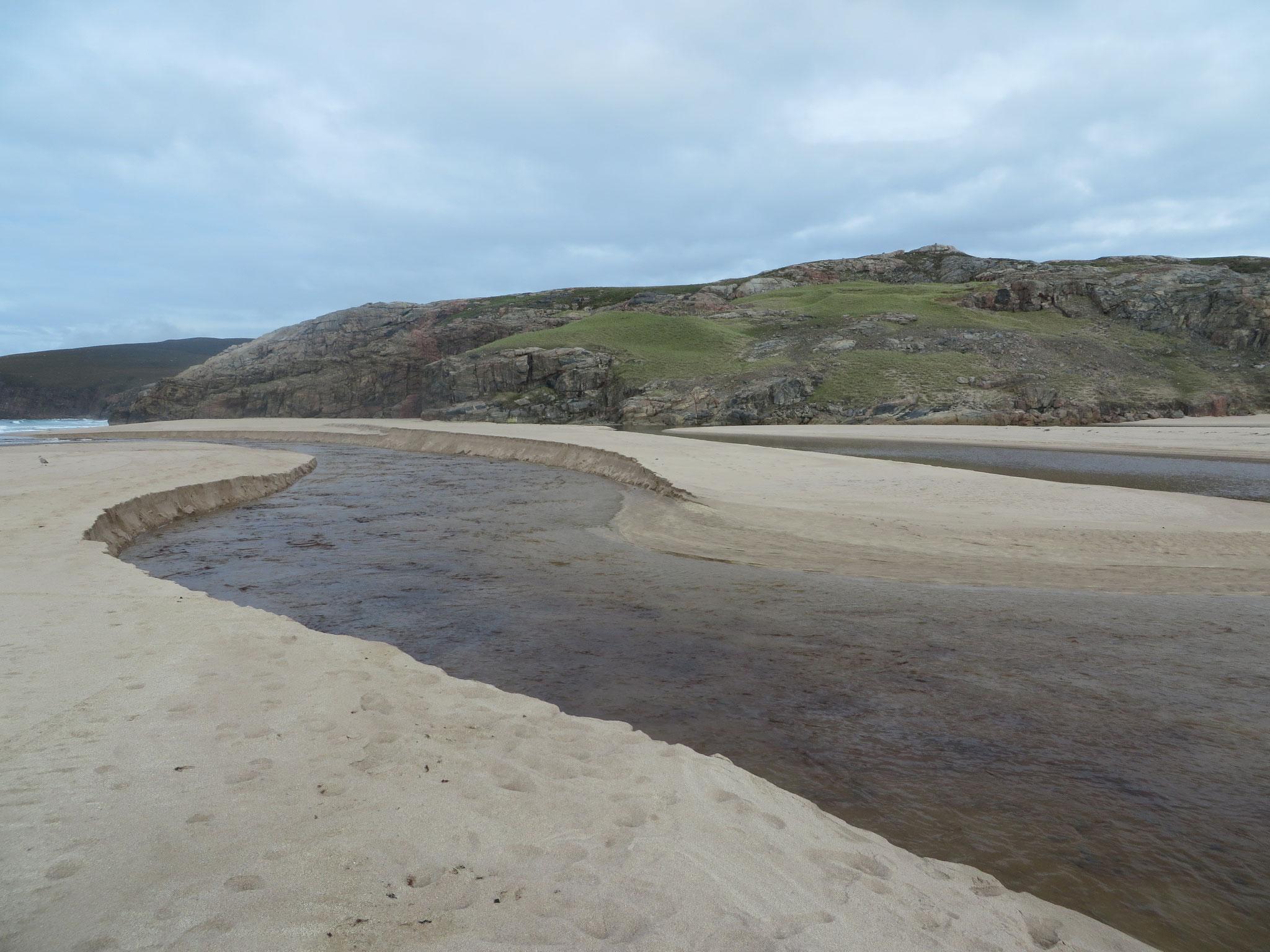 Flussdelta in der Sandwood Bay
