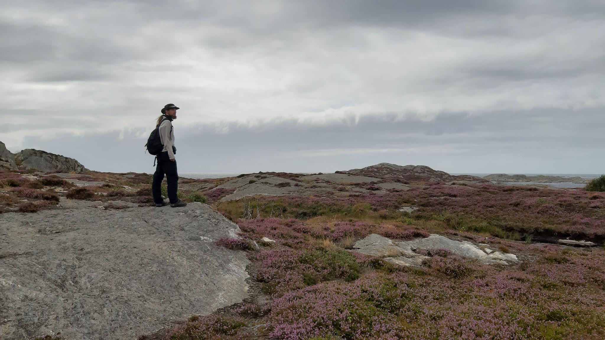 Eine Wolkenfront kommt über die Nordsee heran