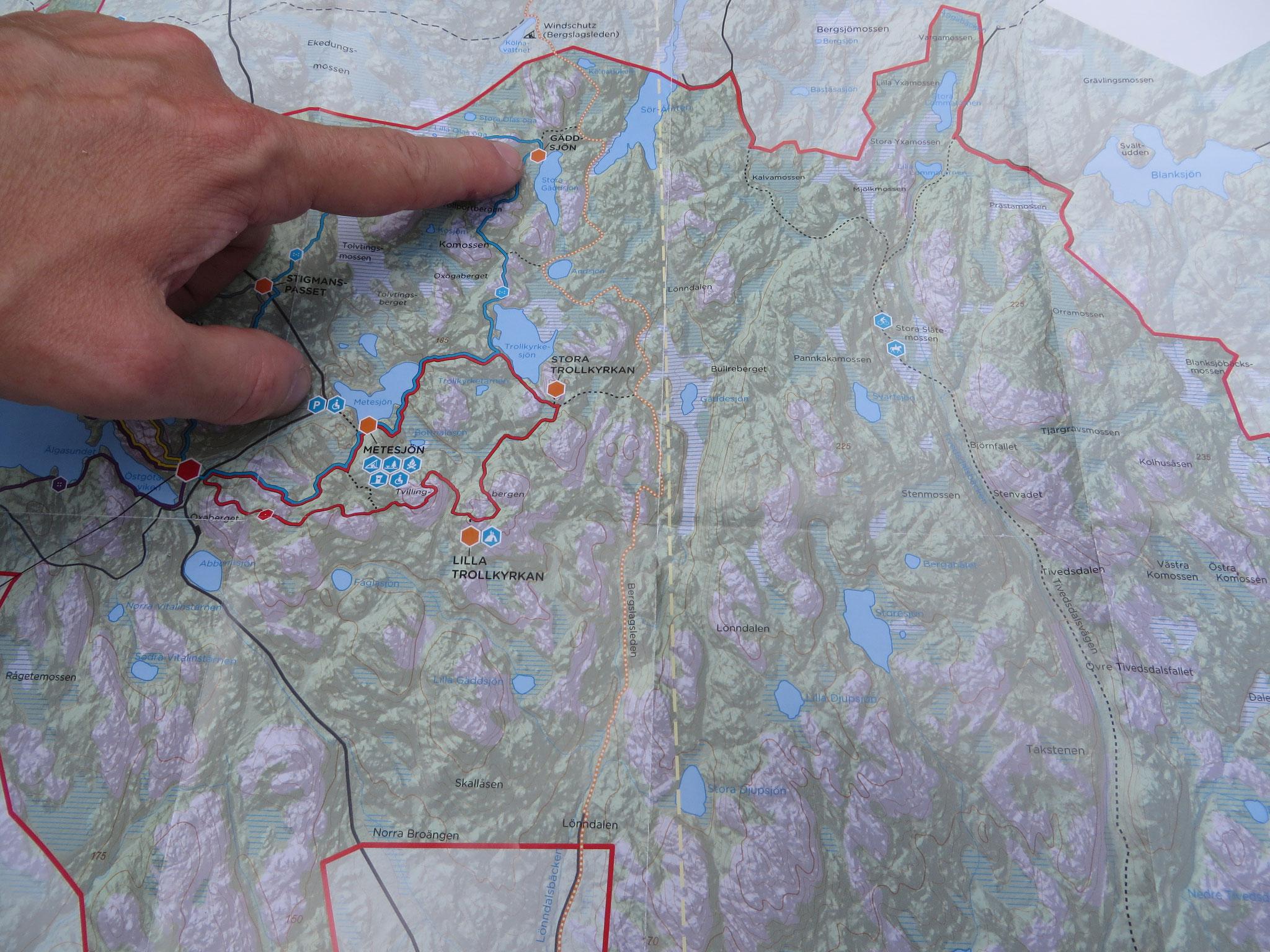 Die Wanderwege im Nationalpark sind verwunschen - aber gut markiert