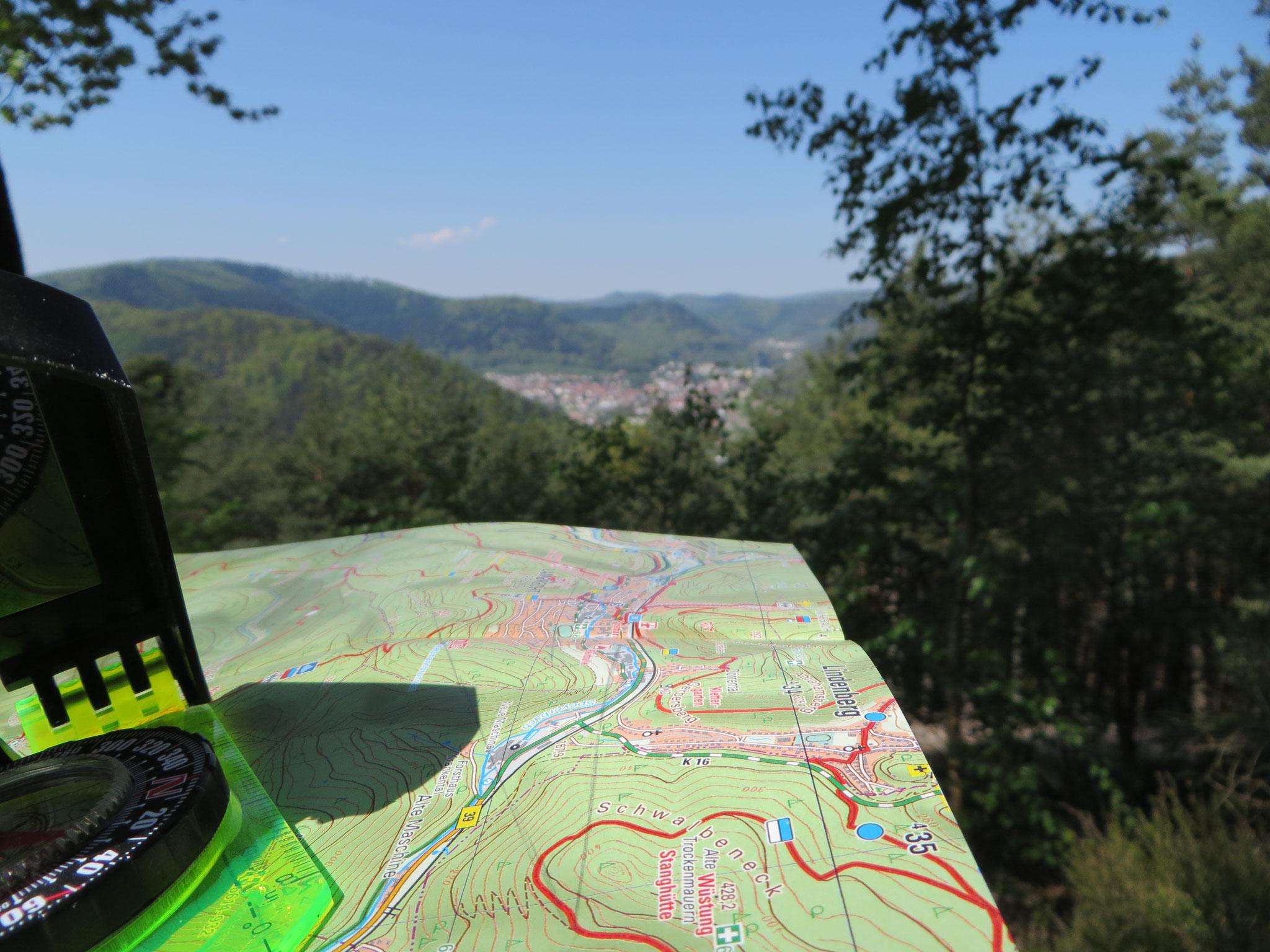 Kartenabgleich im Pfälzer Wald (2016)