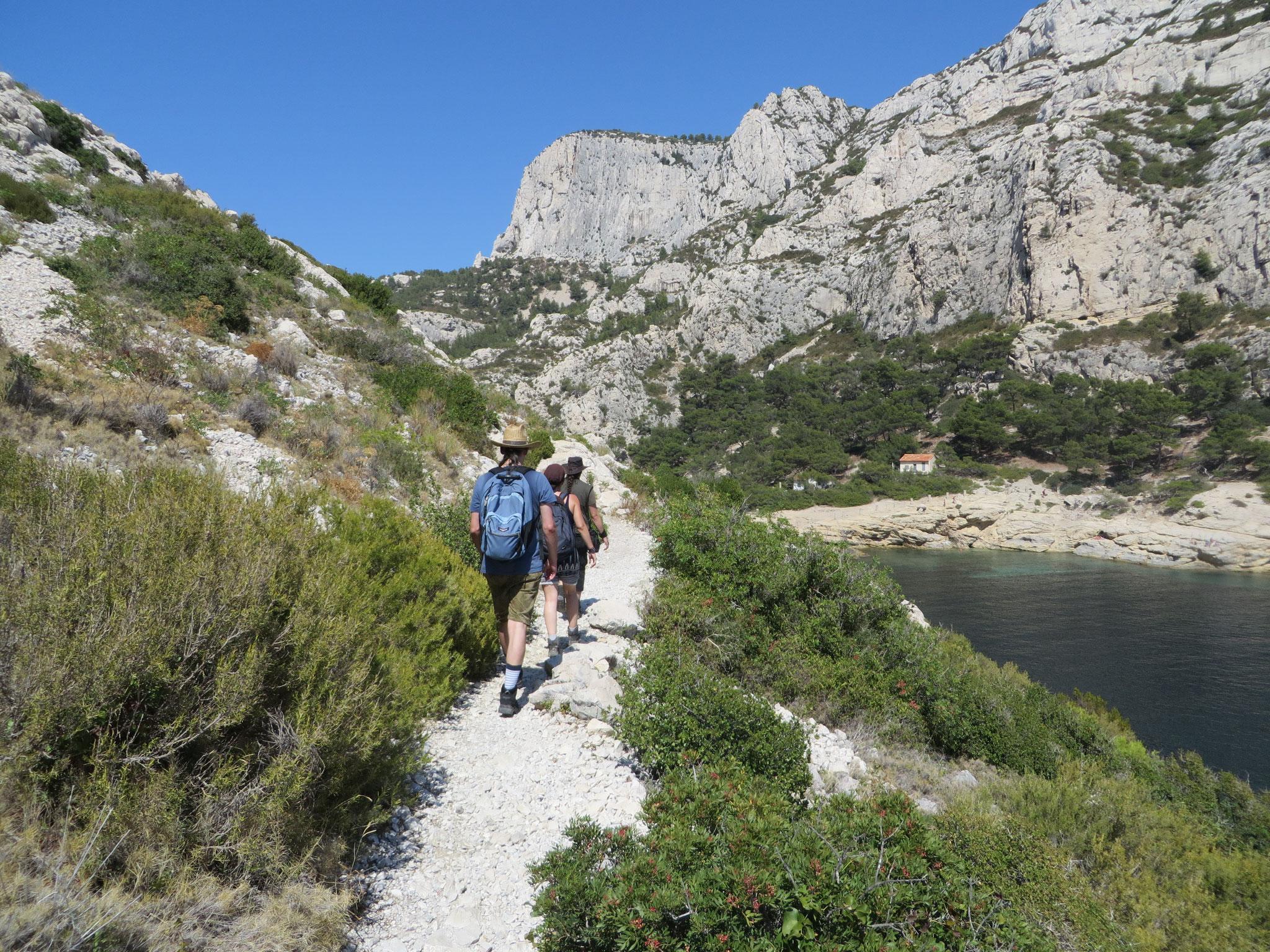Hitzeschlacht nach der Rückkehr vom Cap Morgiou / Calanque de la Triperie