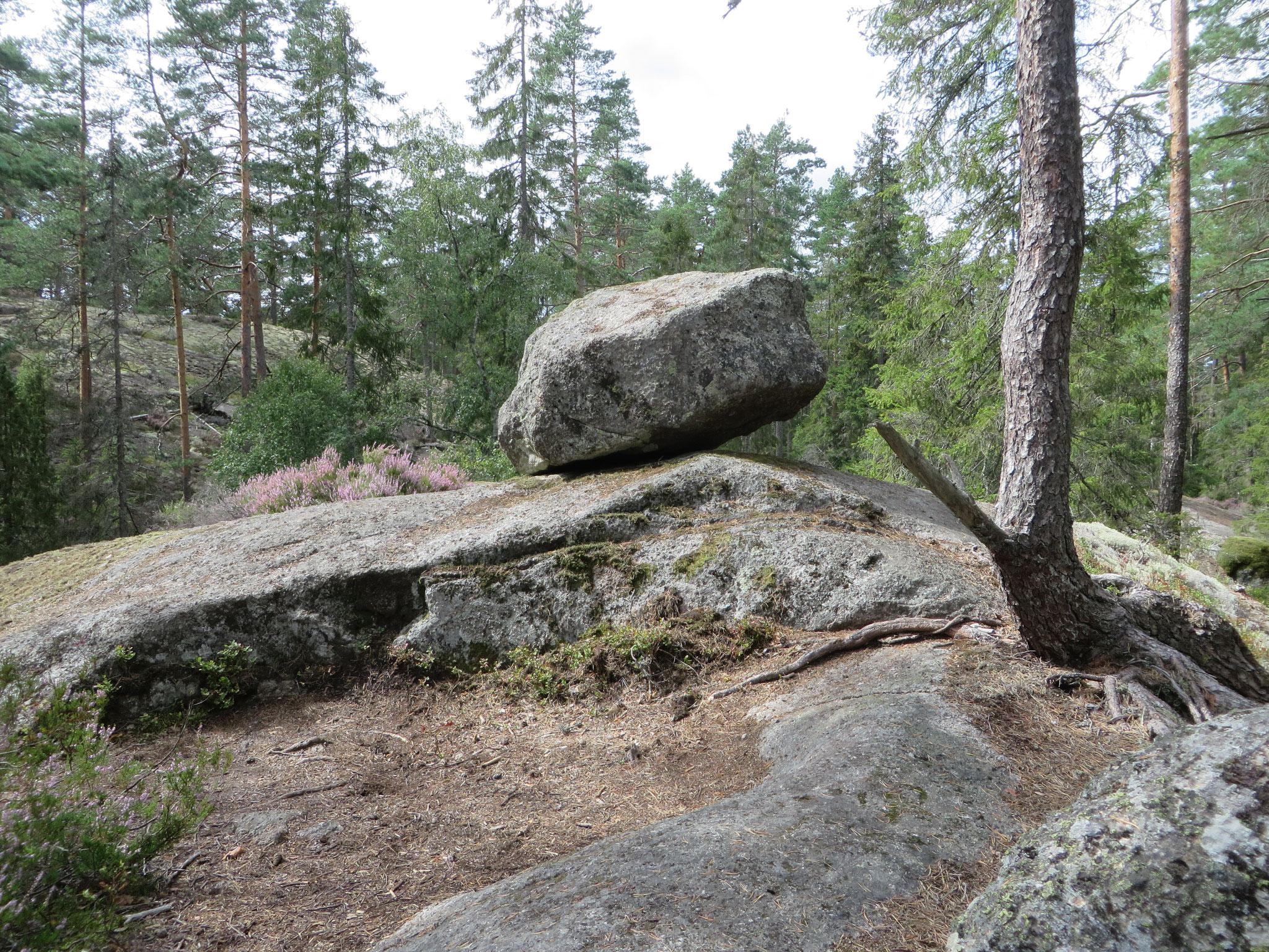 Eiszeitliche Spuren überall im Tiveden