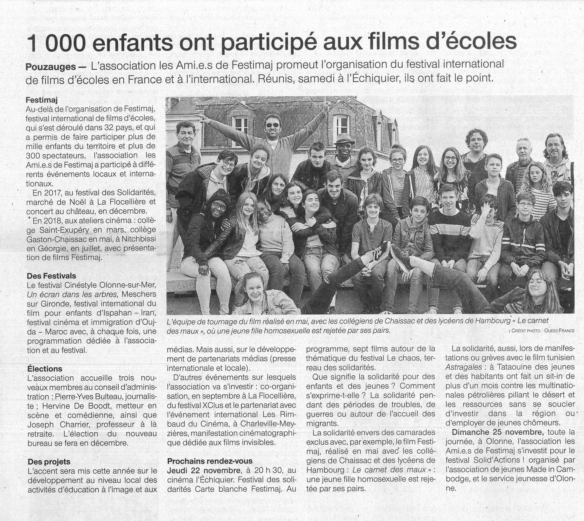 Actualités Ami.e.s de Festimaj 22/11/2018