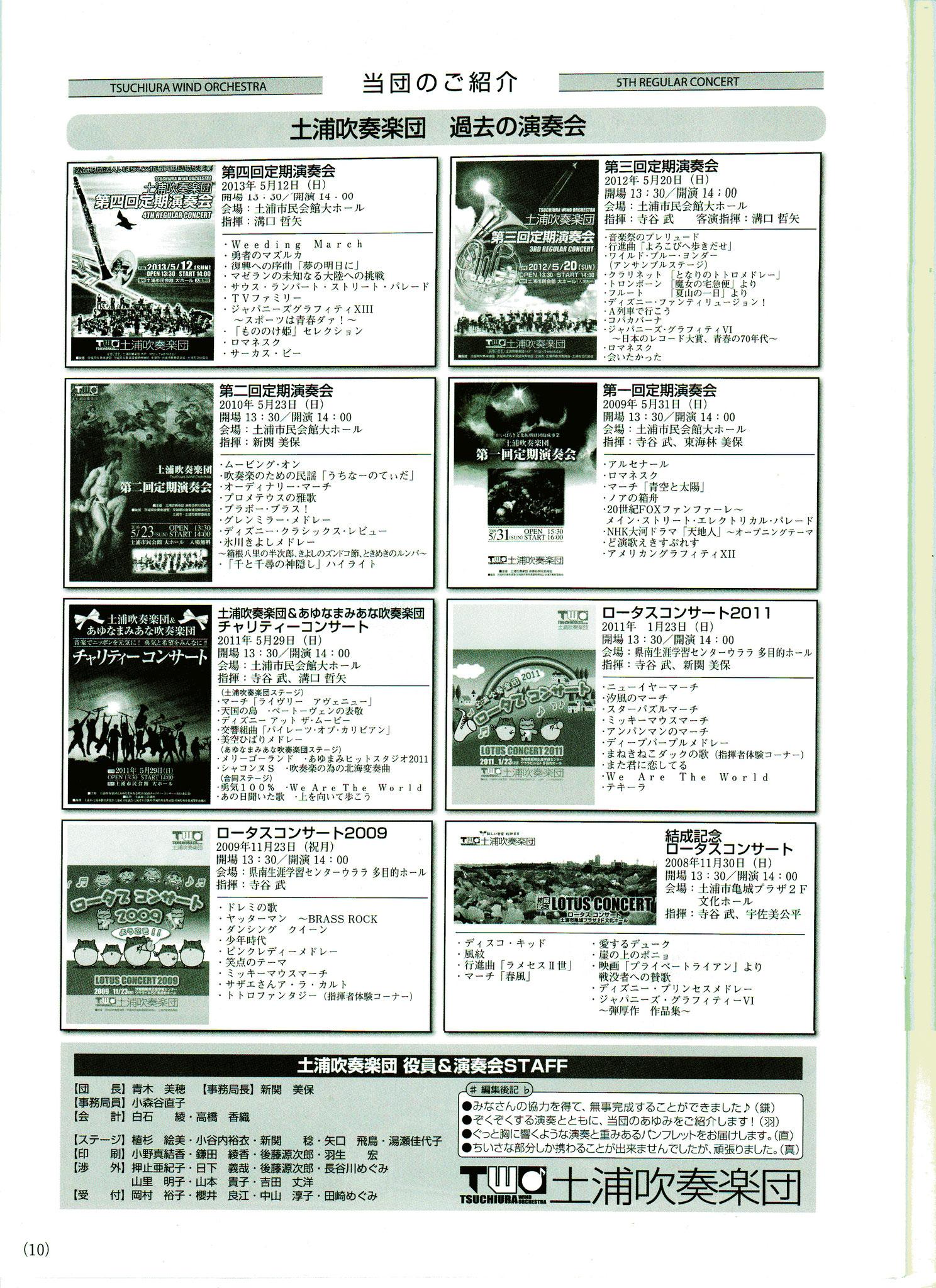 過去のコンサート・演奏会紹介
