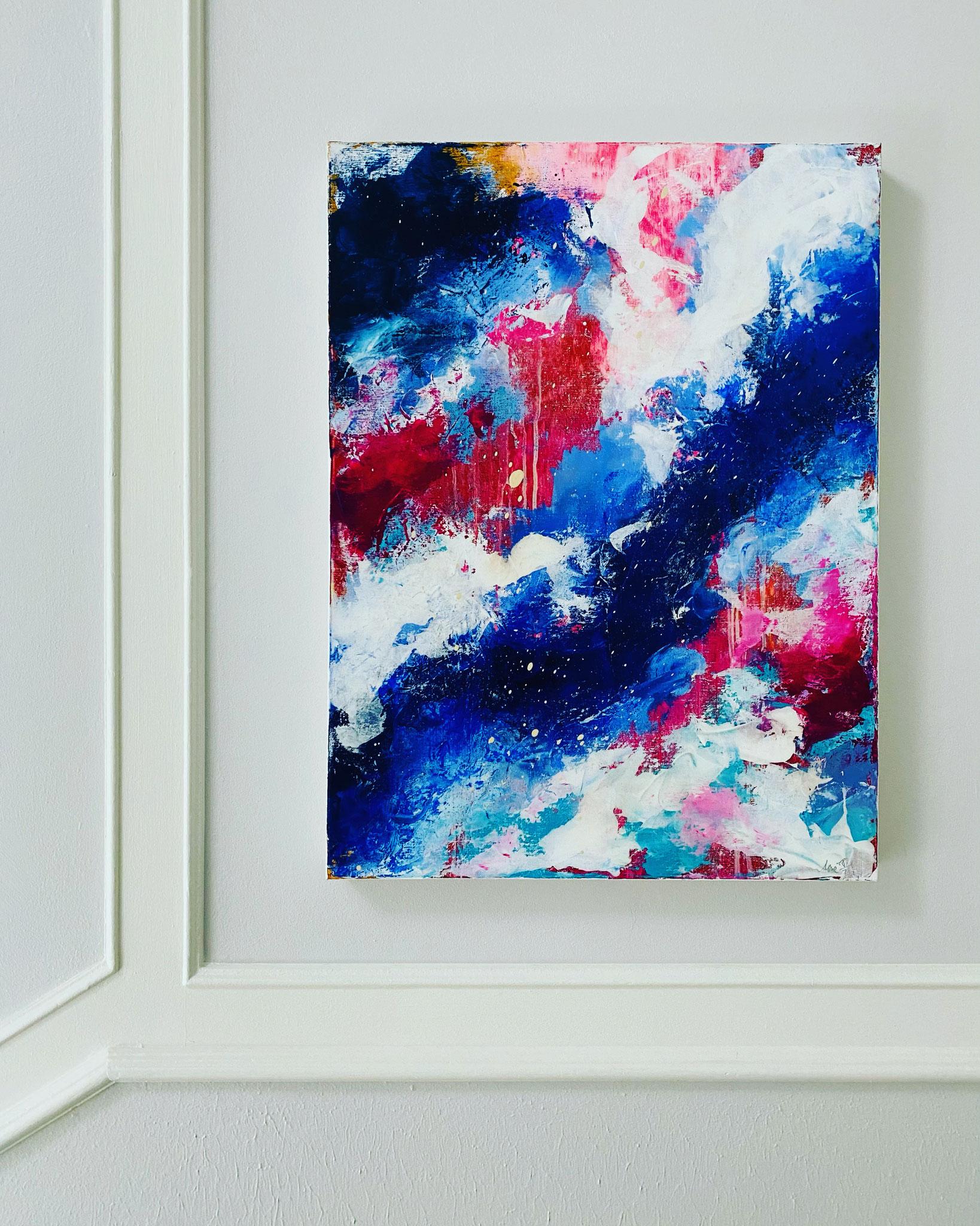 """Blue cloud"" 60x80 400€"