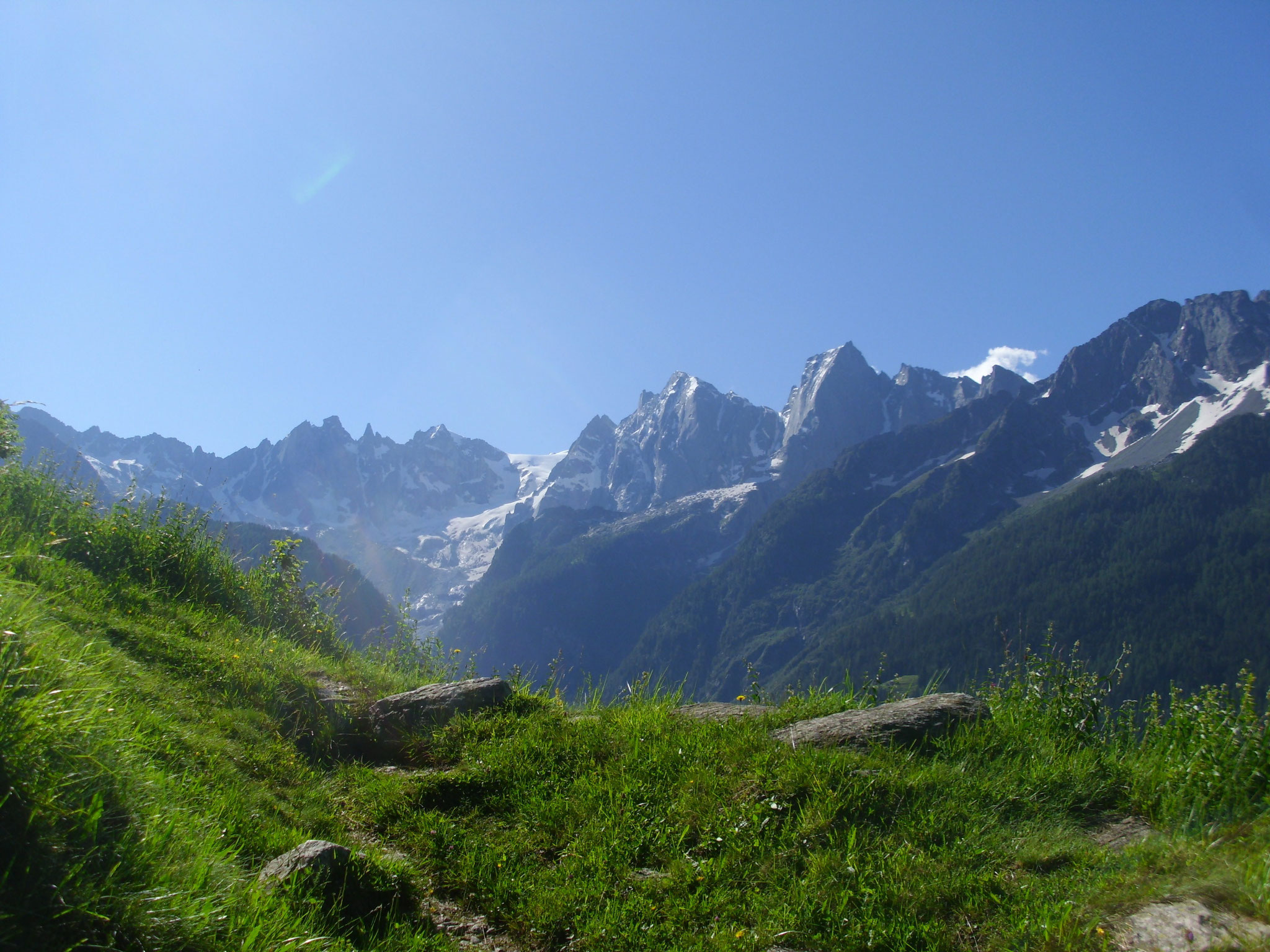Auf dem Weg zur Alp oberhalb von Soglio