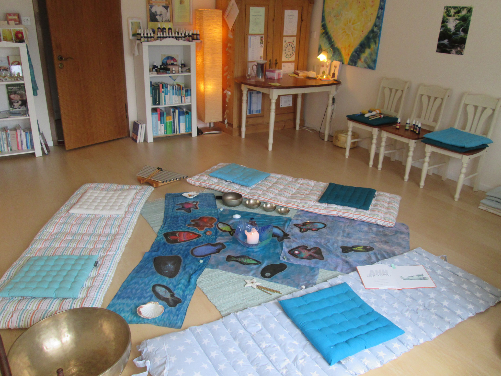 So sieht es bei der Kinder-Meditation aus...