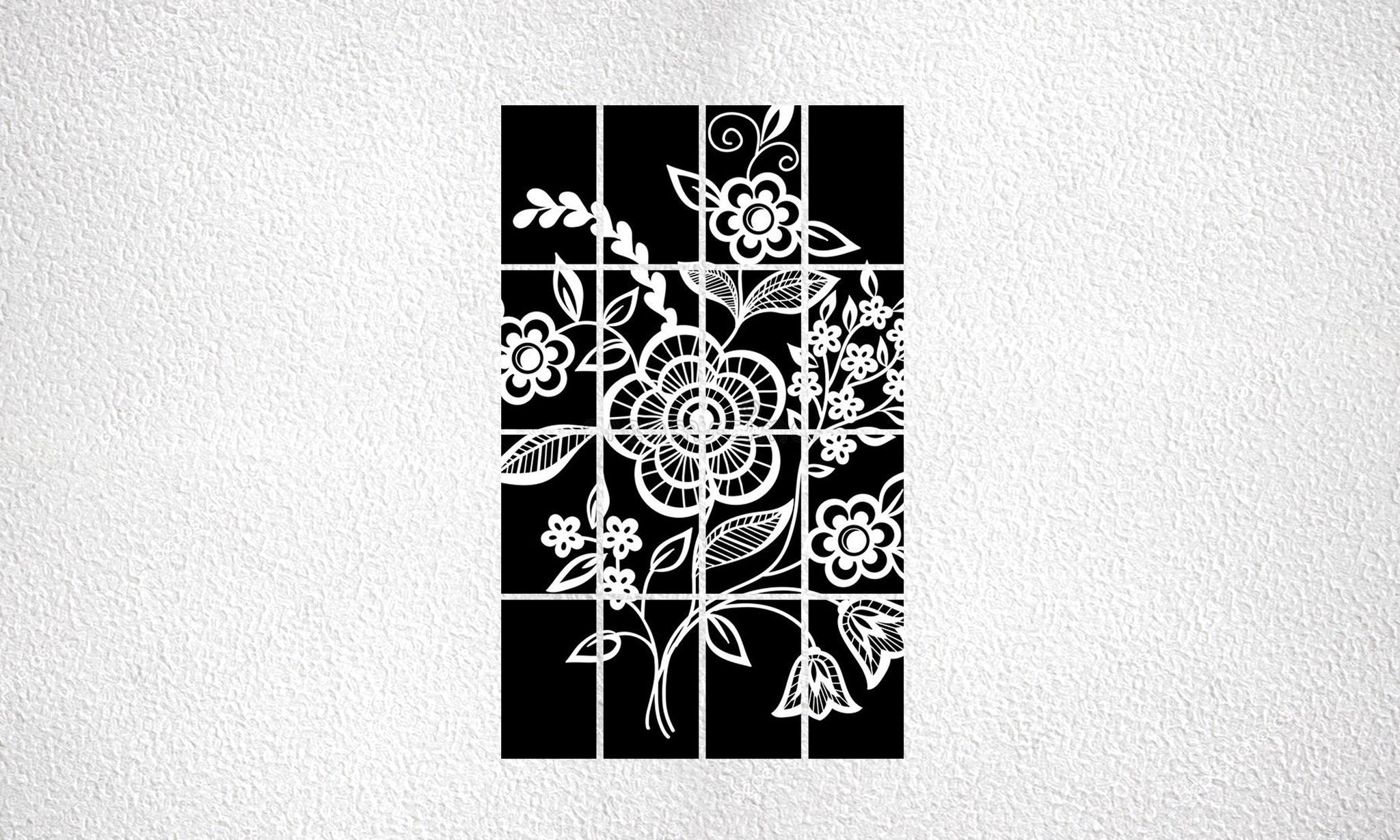 """Composizione """"Flowers"""" 16 moduli"""