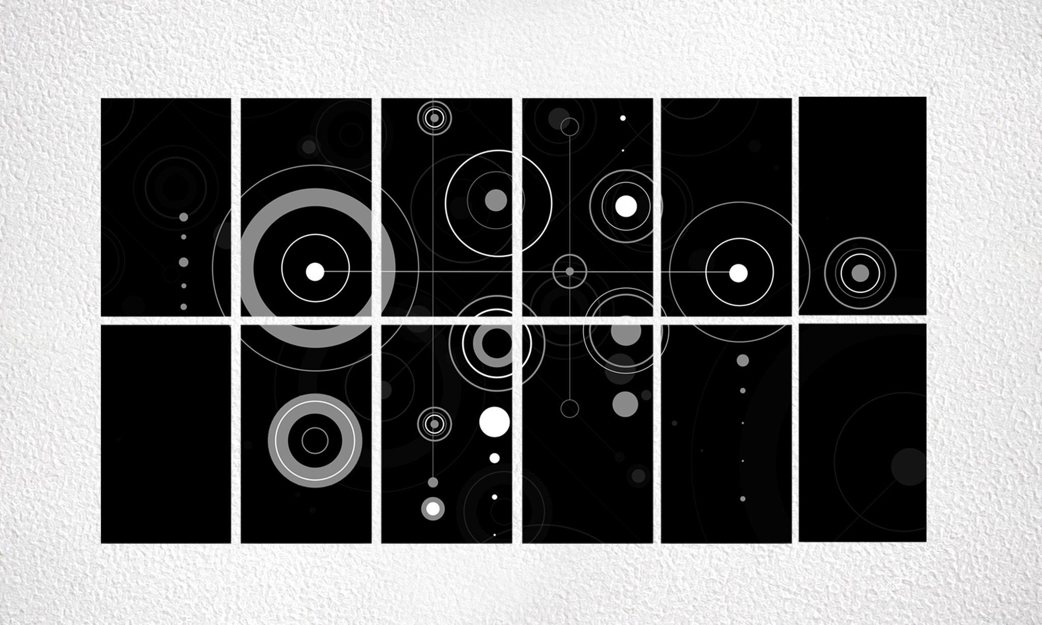 """Composizioni """"Circles"""" 12 moduli"""