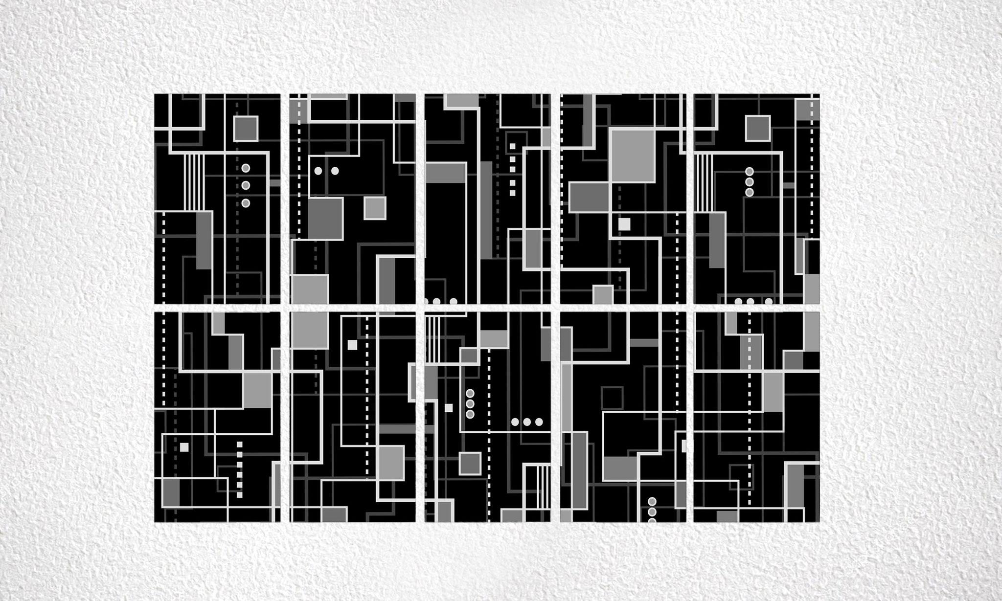 "Composizione ""Bauhaus"" 10 moduli"