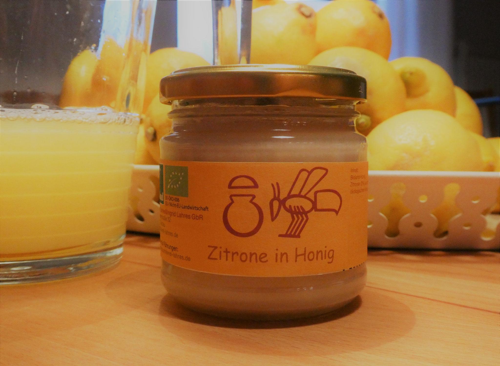 und nach 1-2 Wochen ist er fertig - unser frisch-fruchtiger Brotaufstrich Zitrone in Honig