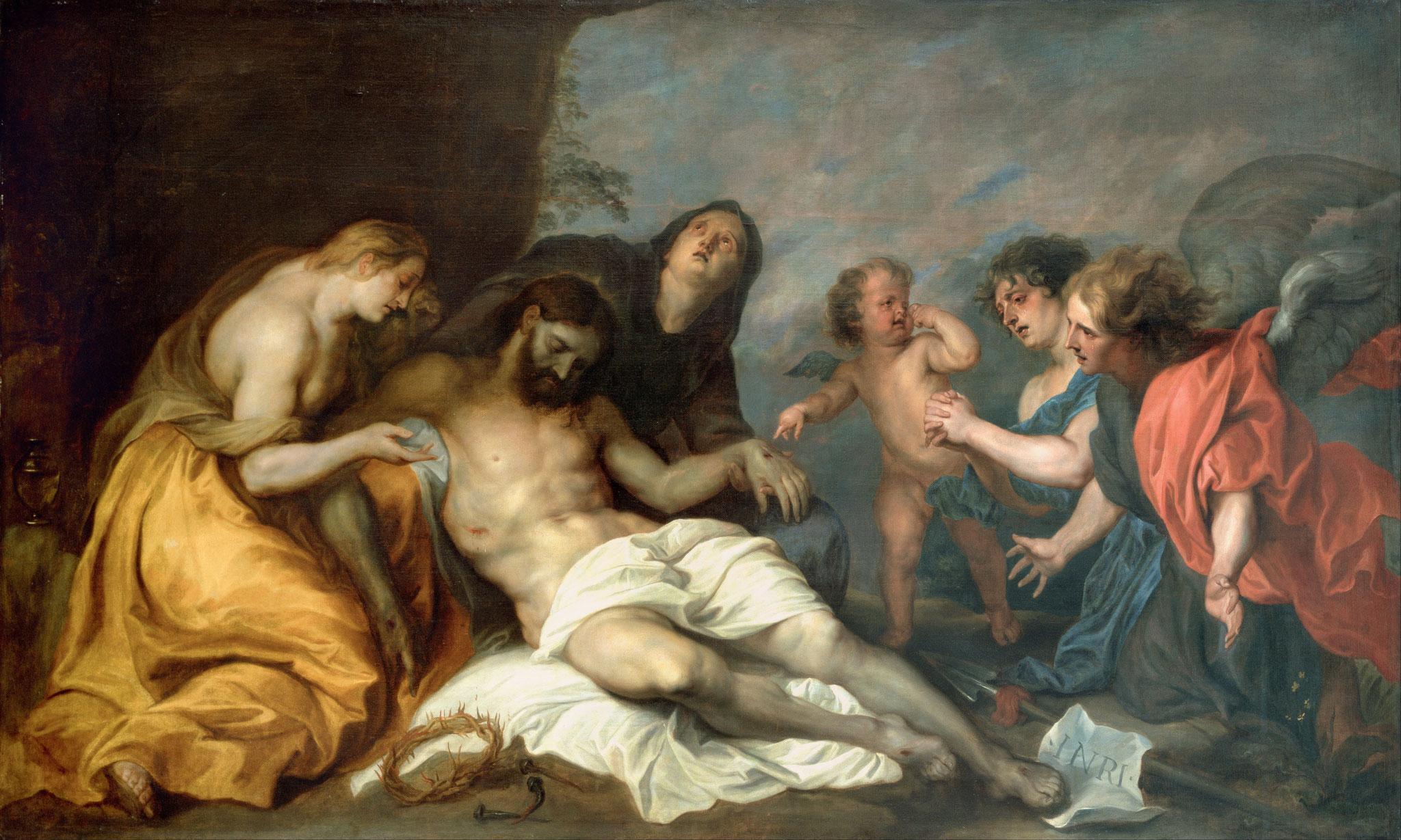 Anthony Van Dyck - Lamentation après la mort du Christ - Tableau exposé à Bilbao