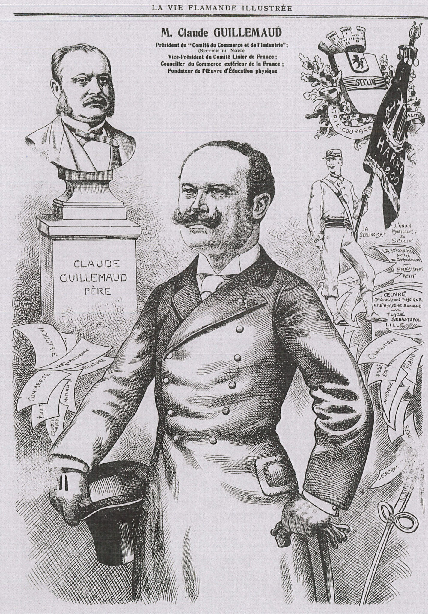 "Portrait de Claude Guillemaud (""La Vie Flamande Illustrée - 8 Avril 1905)"