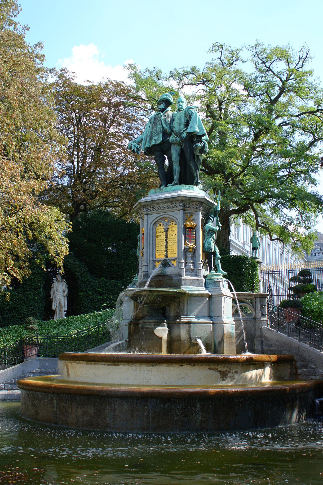 Fontaine des Comtes Egmont et Hornes, leur souvenir est encore vivace chez les Belges !
