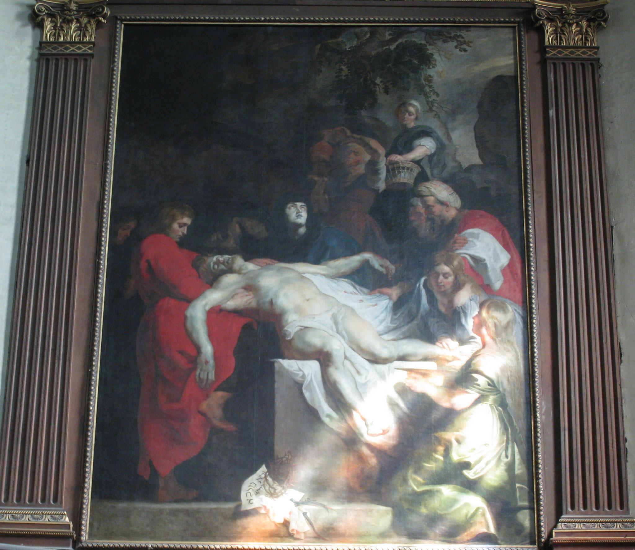 """Pierre Paul Rubens - """"La mise au tombeau"""" - 1616 - Toile exposée dans l'église Saint Géry de Cambrai"""
