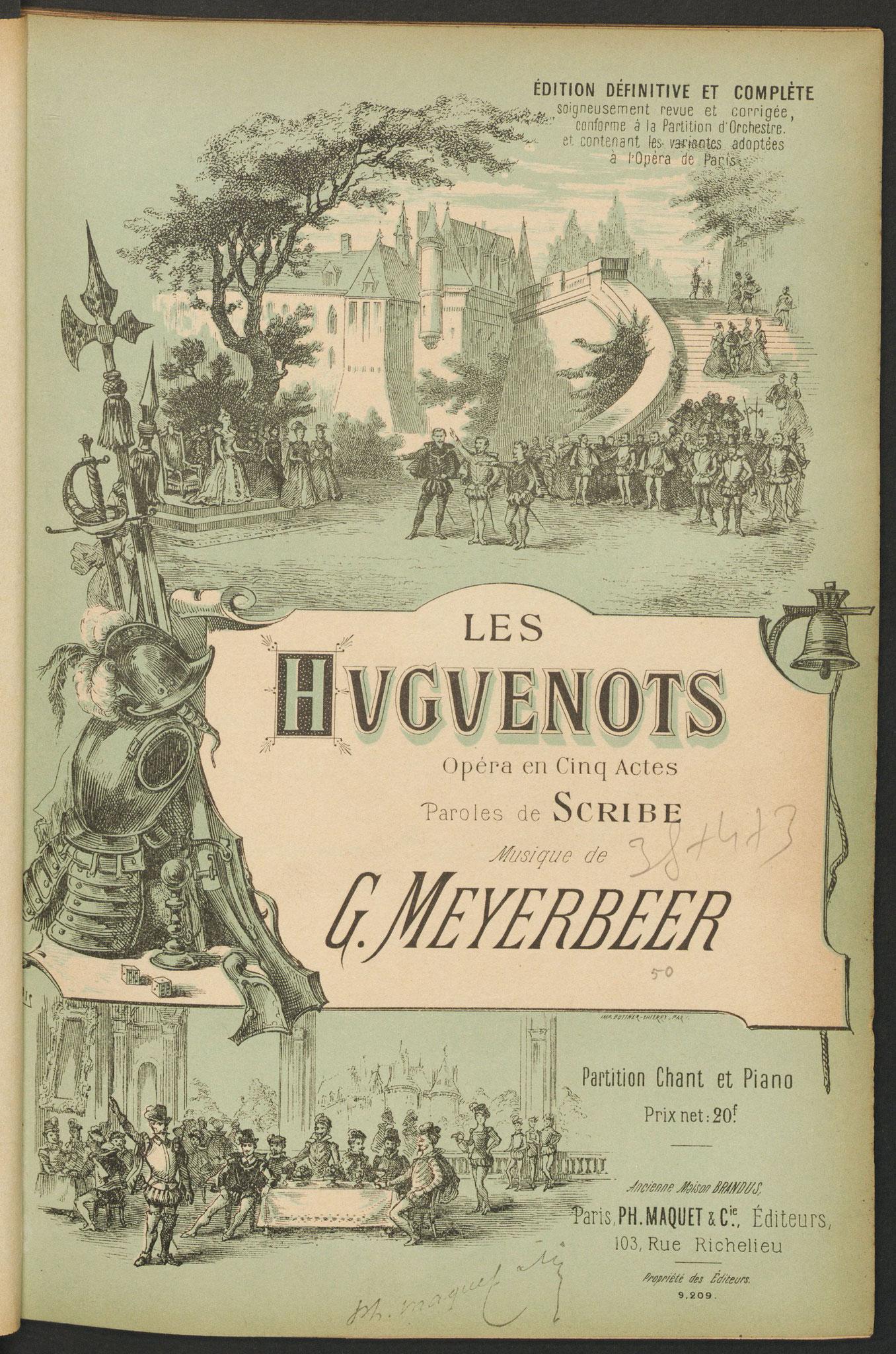 Les Huguenots de Giacomo Meyerbeer