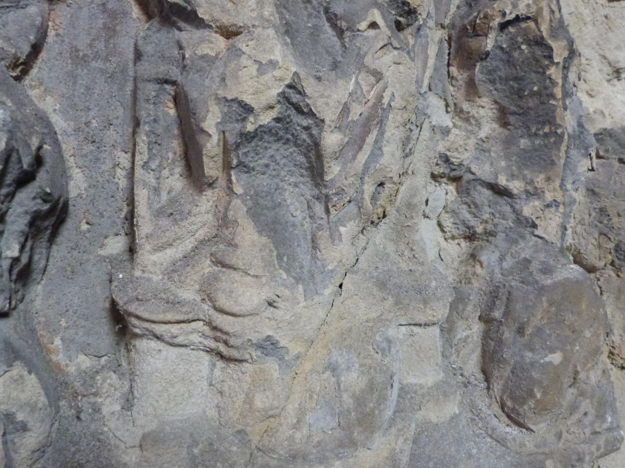 Détail bas-relief du XIVe ou XVe siècle - Chapelle du saint Sépulcre, Collégiale St Piat (Seclin)