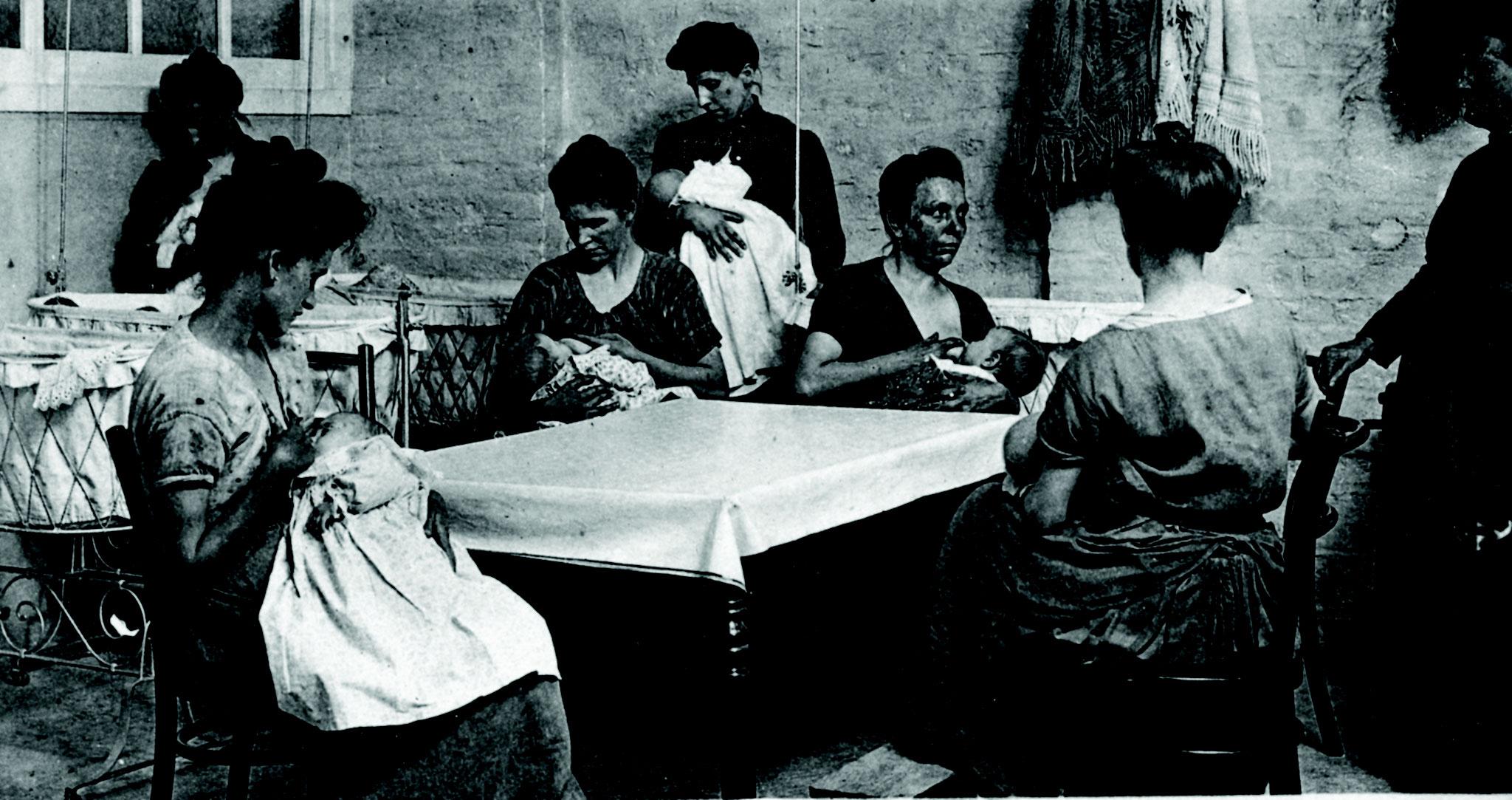 Chambre d'allaitement mise en place à la filature Duriez, rue de l'Hospice (Seclin)