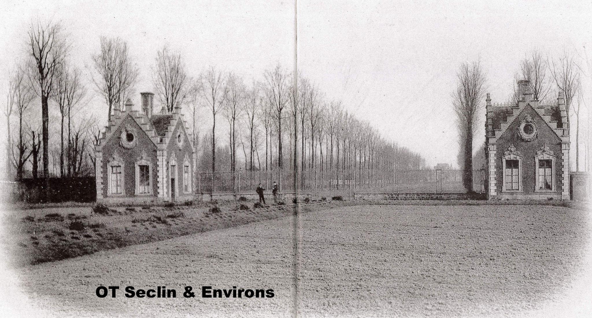 Vue de la Drève depuis les jardins de l'Hôpital Notre-Dame