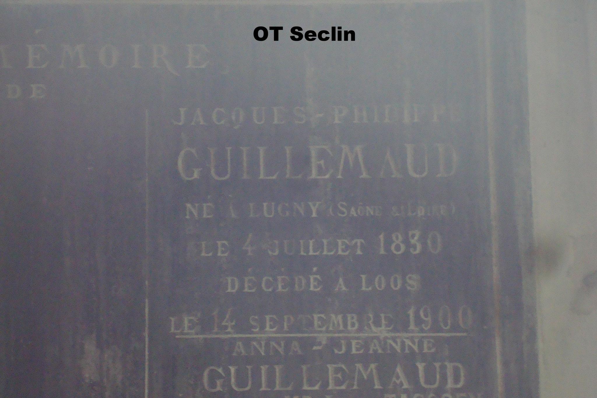 Le caveau des Guillemaud de Loos - intérieur