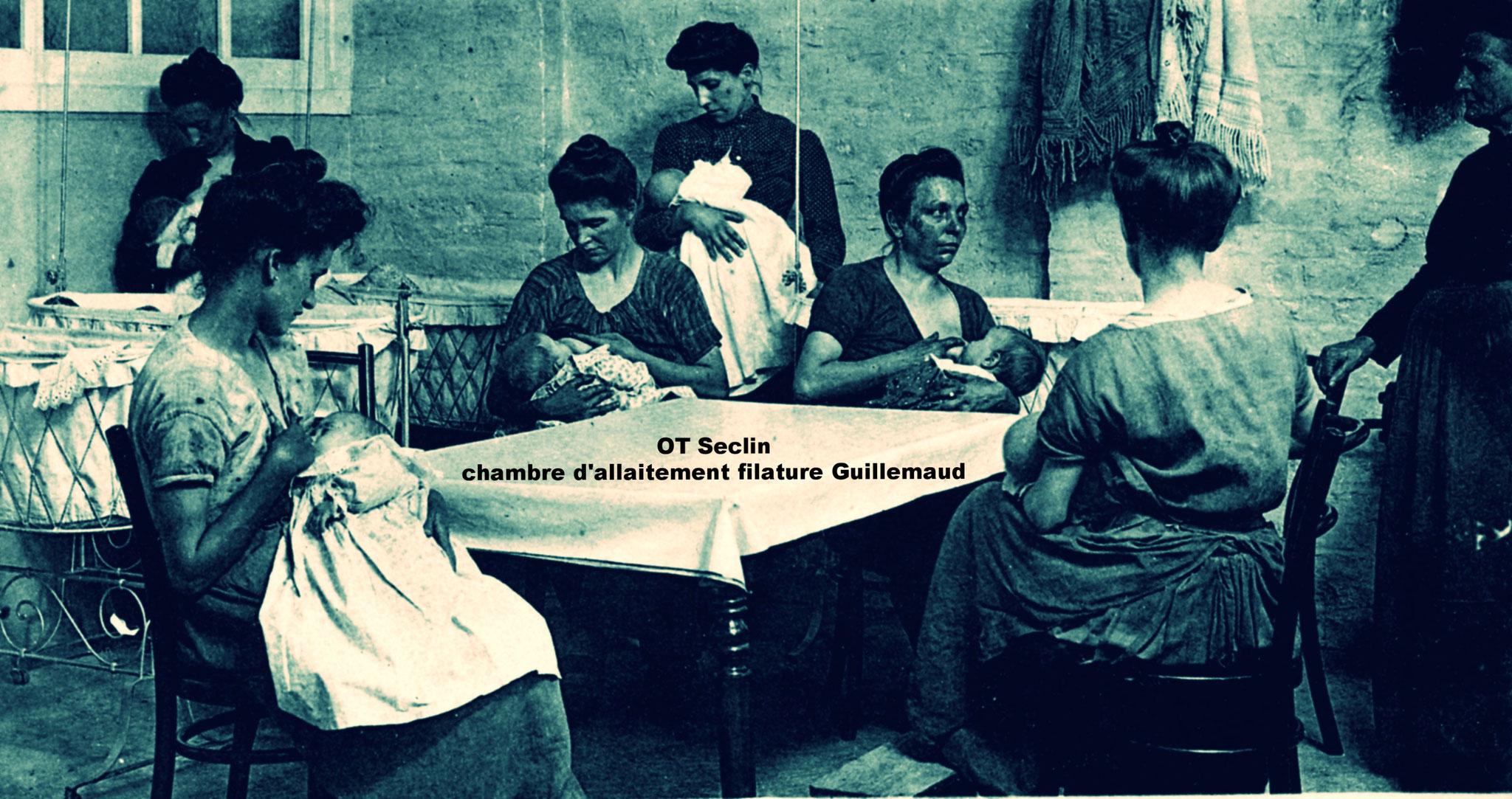 La chambre d'allaitement au sein de la filature Guillemaud de Seclin