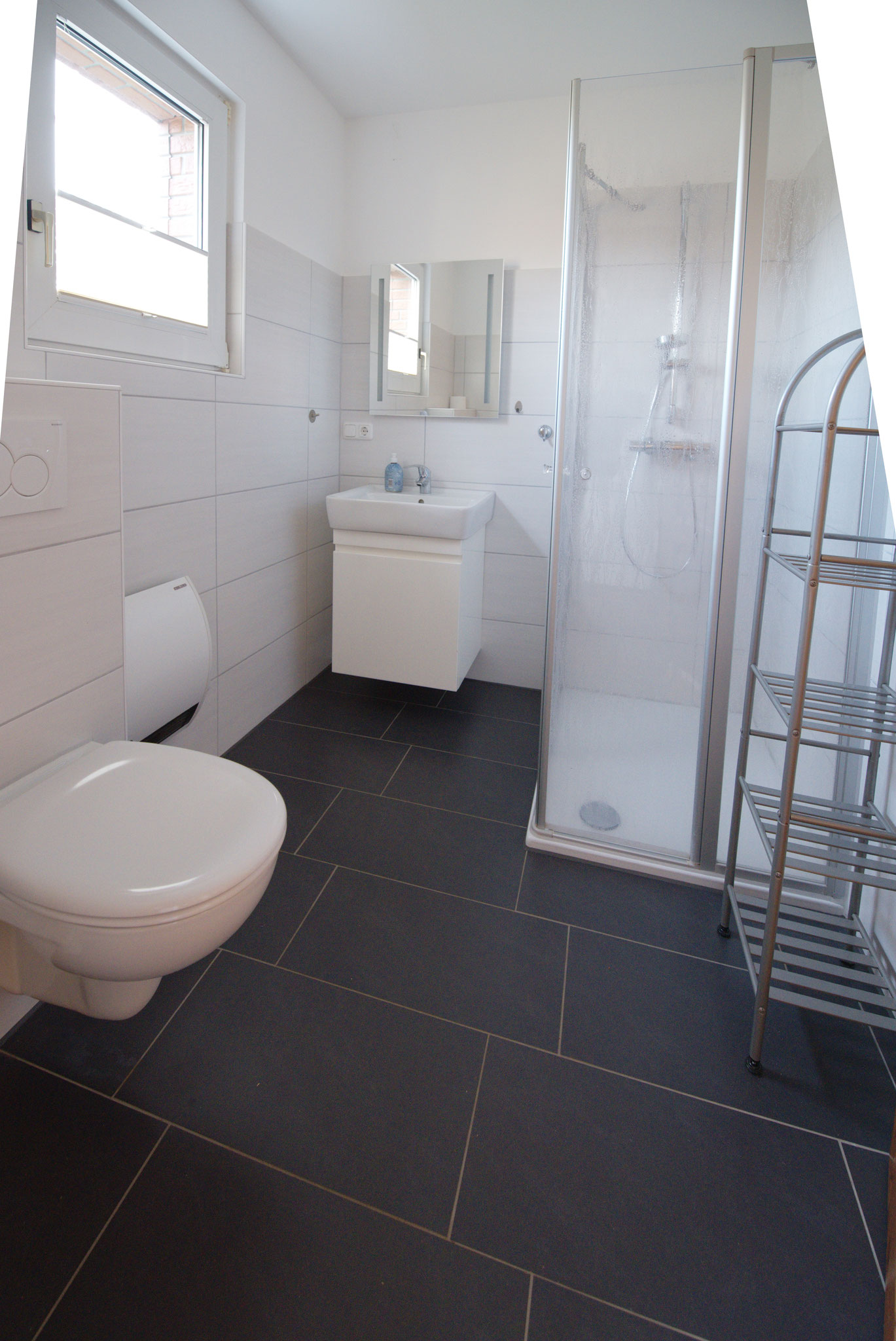 Dusche und WC unten