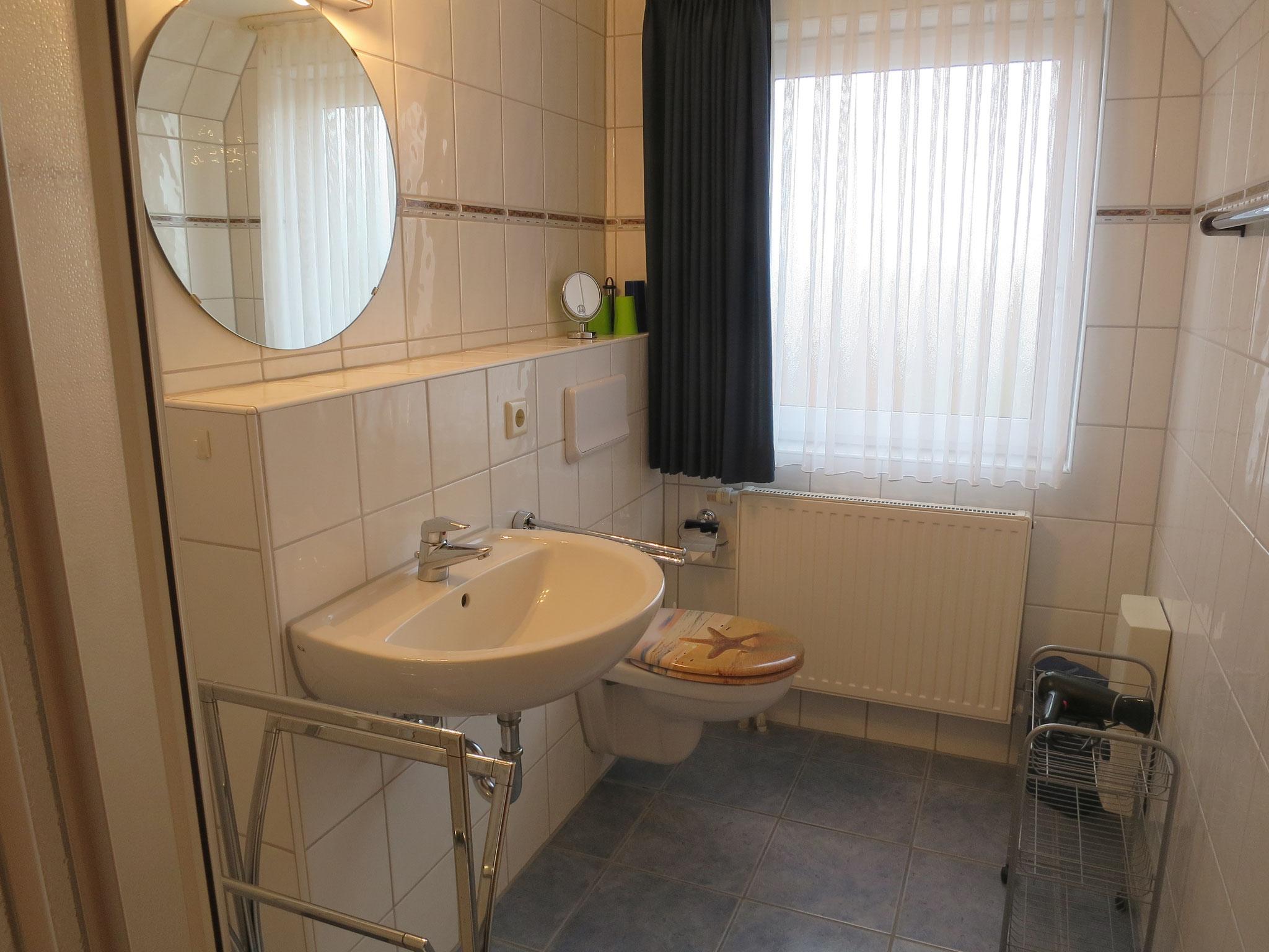 Bad mit WC und Dusche - Bad mitFenster