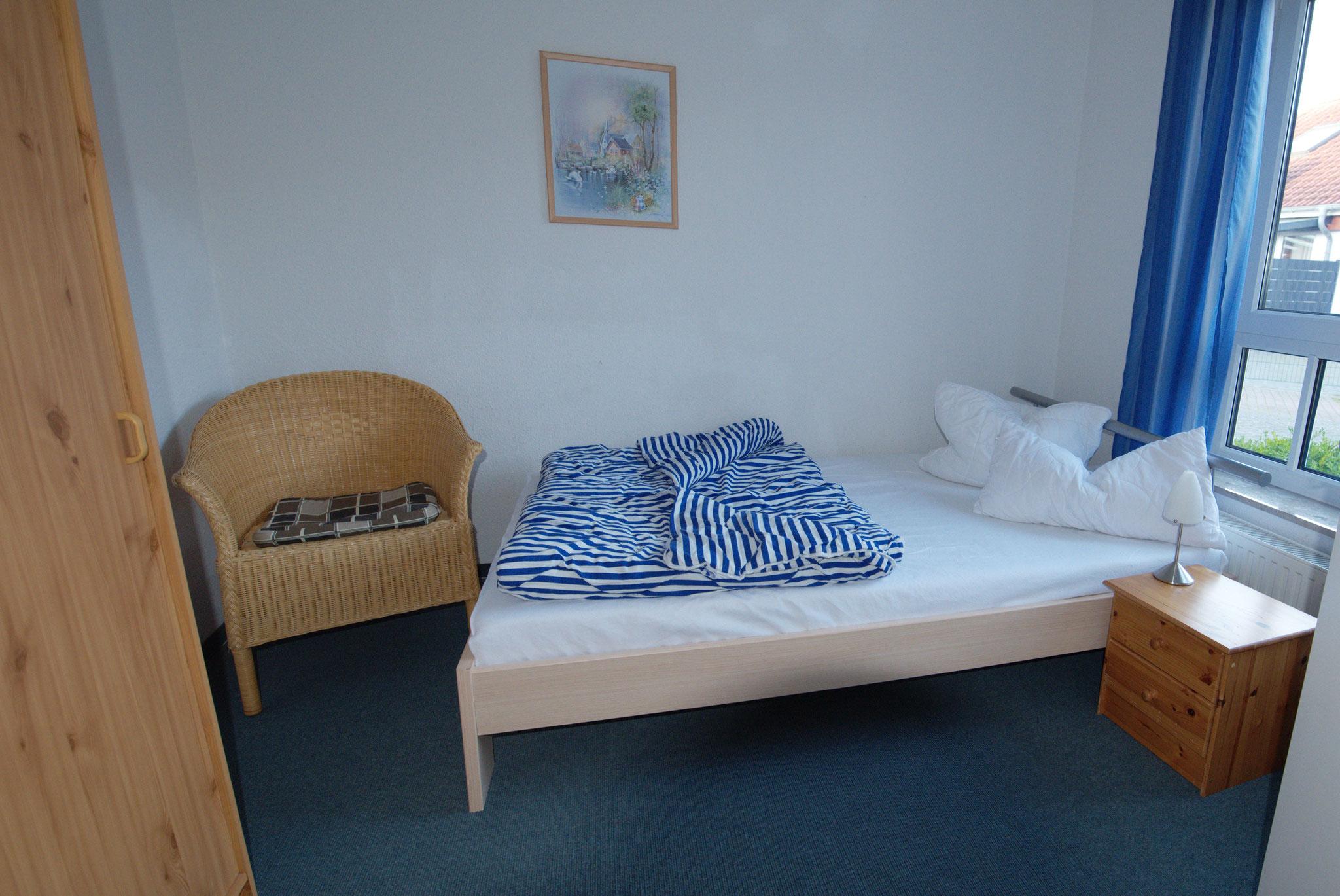 1. Schlafzimmer unten mit Doppelbett