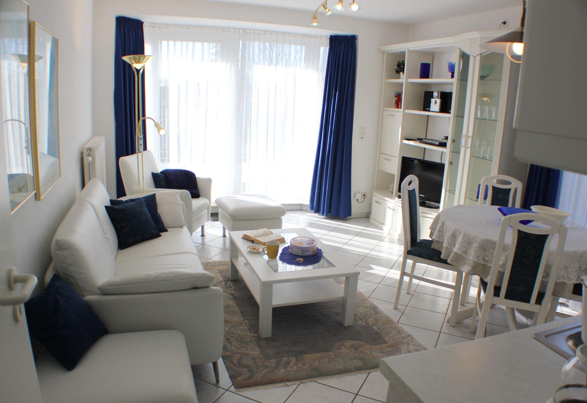 Wohnbereich mit SAT-TV, DVD,Musikanlage und Wlan