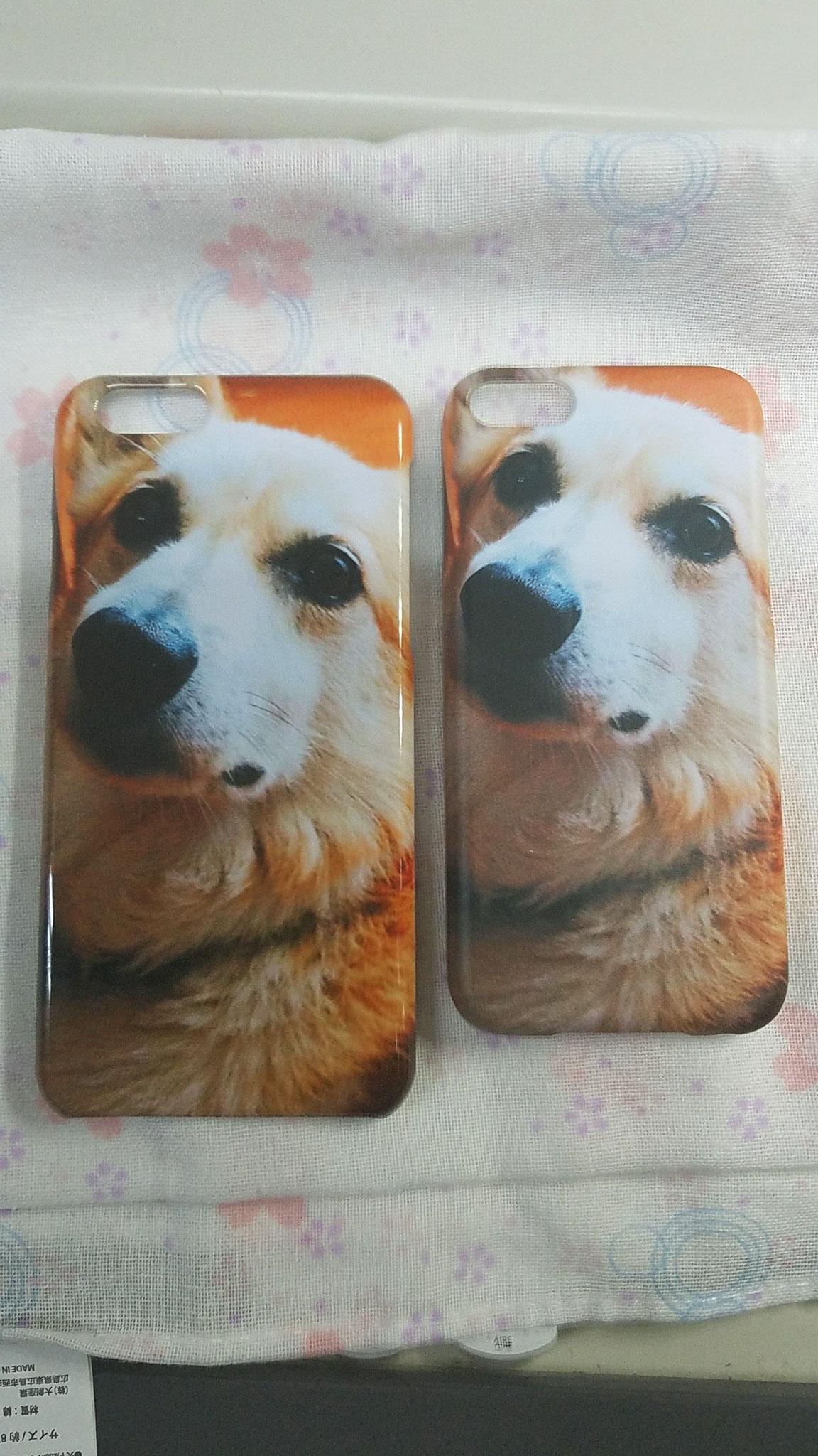 スマホケース 側面印刷 ペット 犬