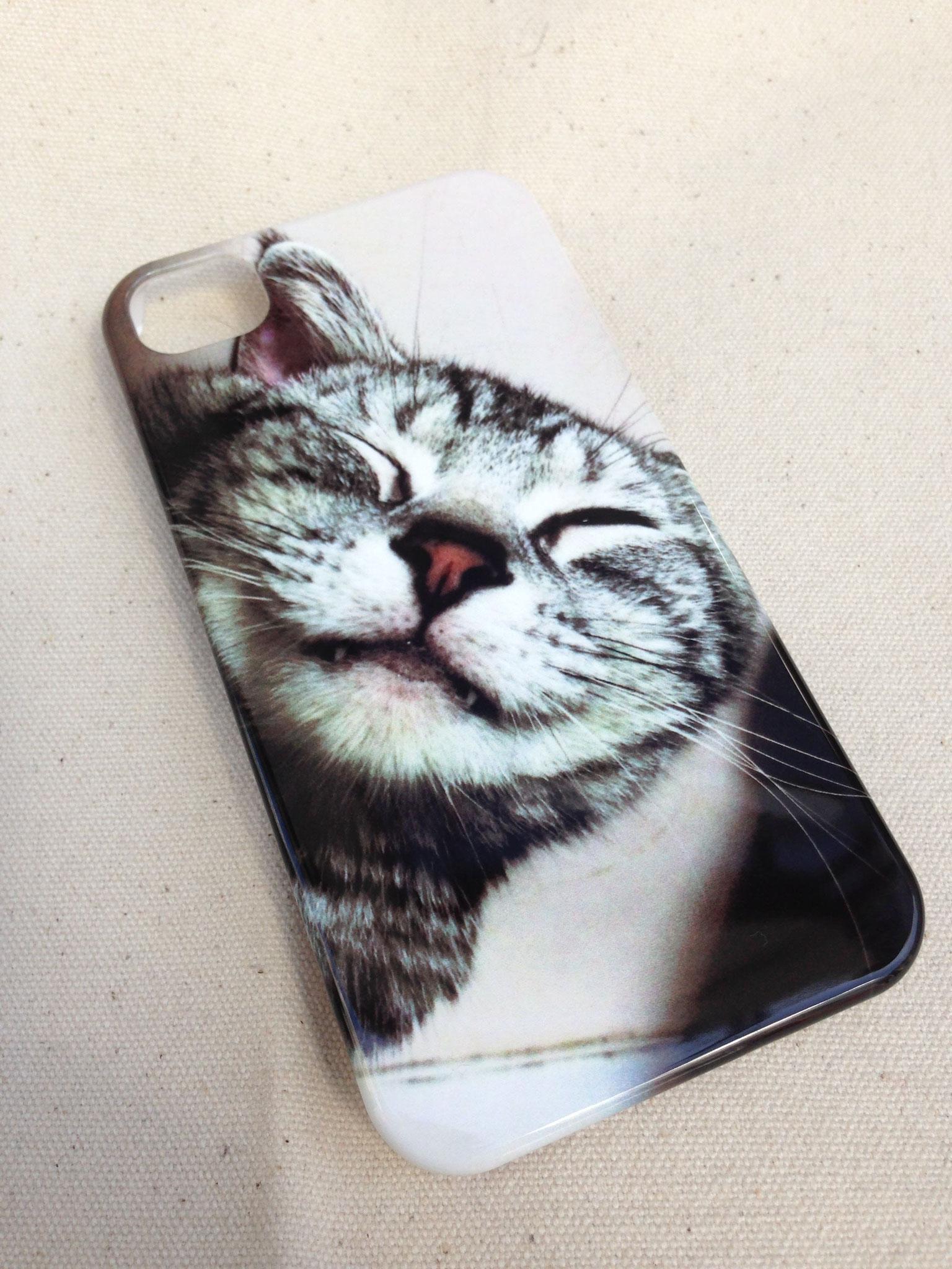 スマホケース 側面印刷 ペット 猫