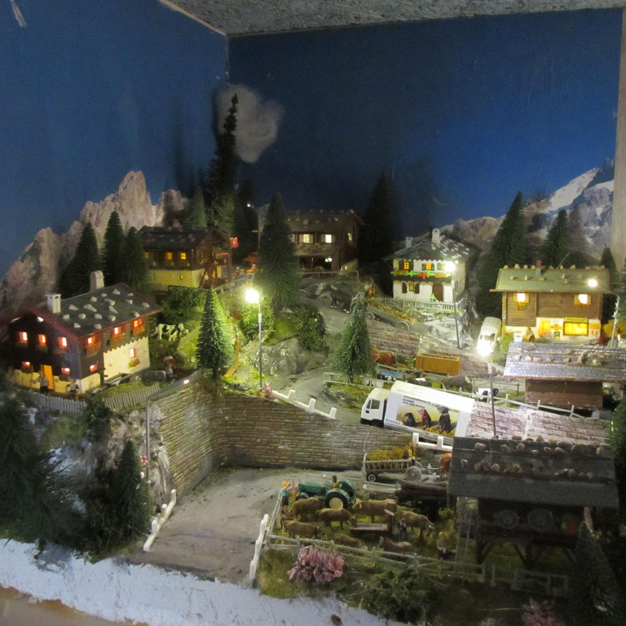 Dorf mit Div. Kelltec Häuserbeleuchtungen verbaut