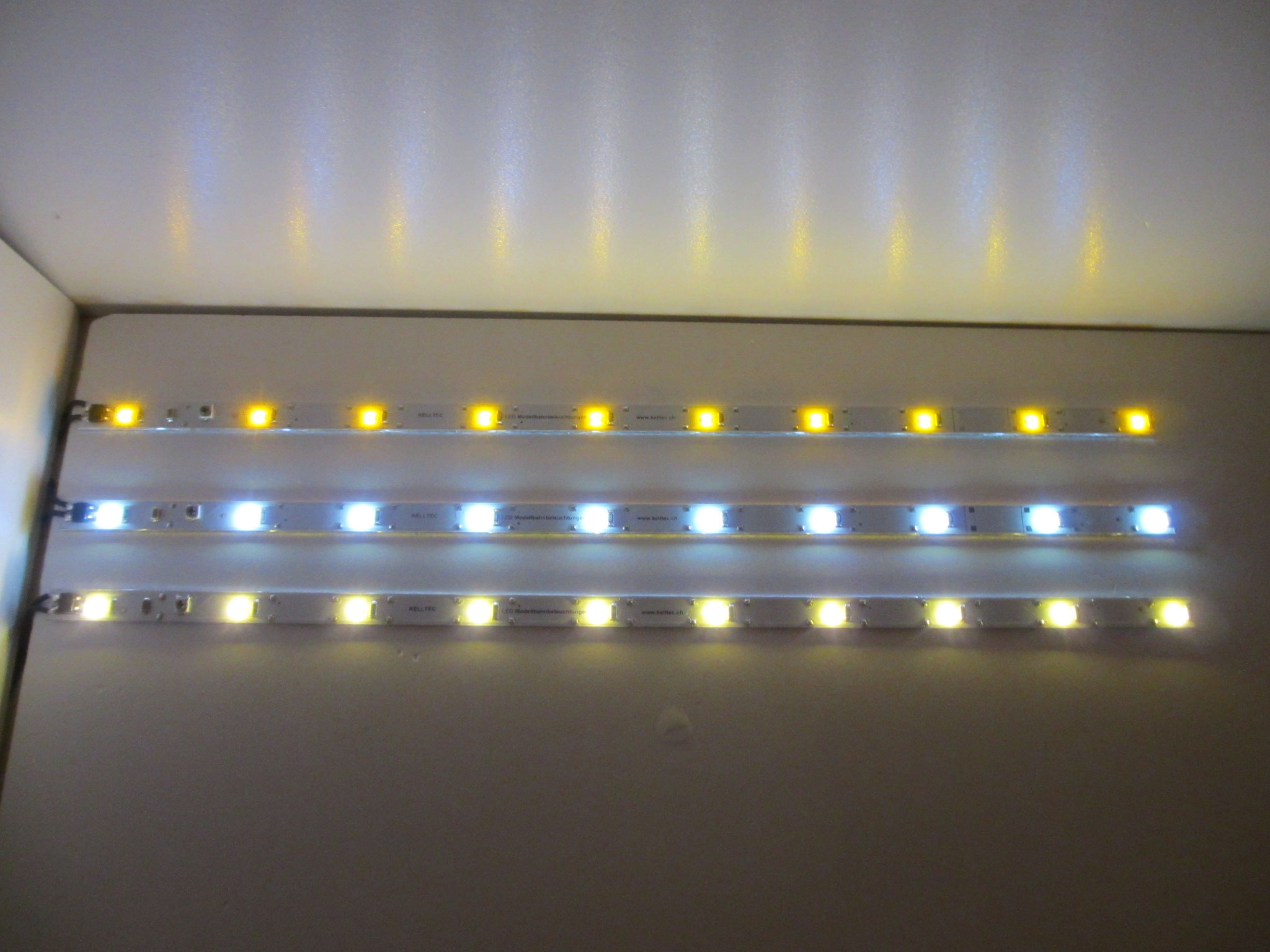 Kelltec LED Stäbe gelb, neonweiss, warmweiss