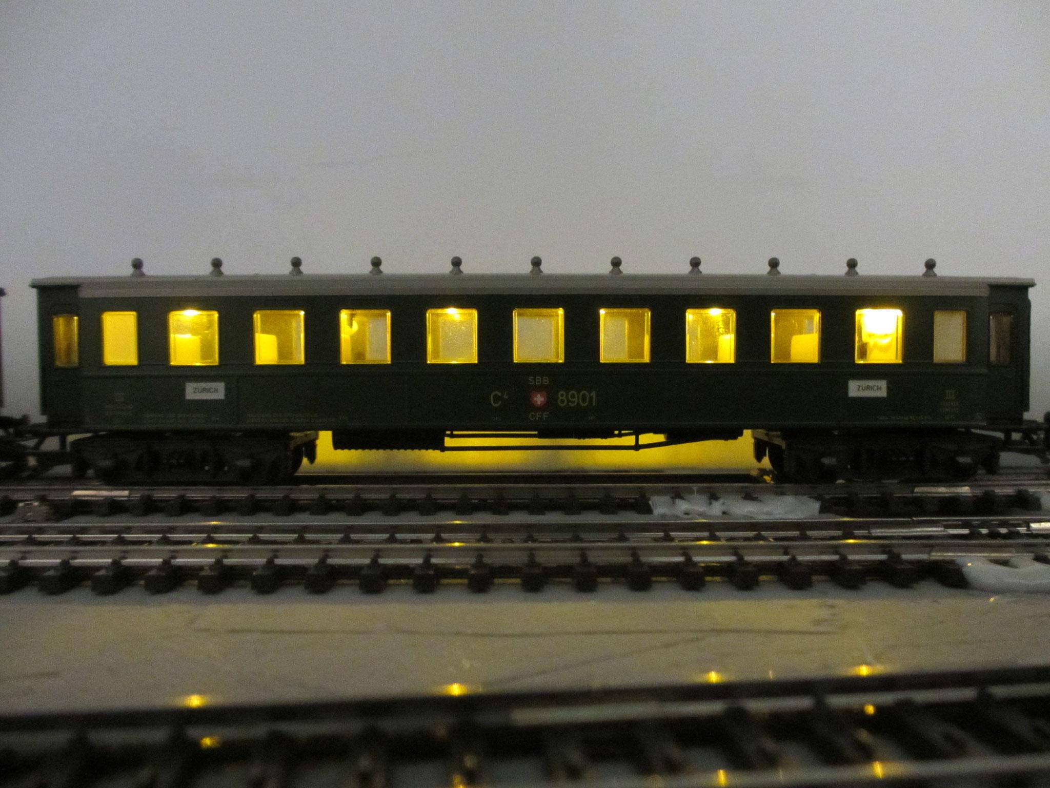Märklin Stahlwagen mit gelben LED`s
