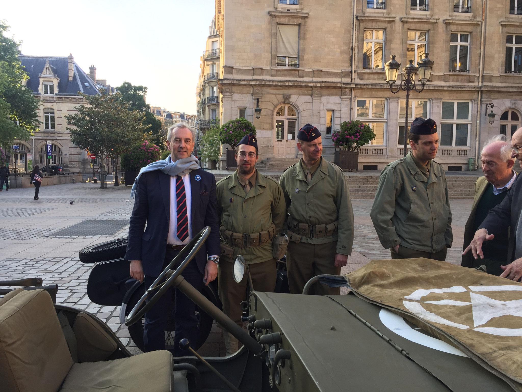 Commémoration du 8 Mai à la Mairie du 15è - François POTIÉ LUSSIGNY & Bataillon de Koufra