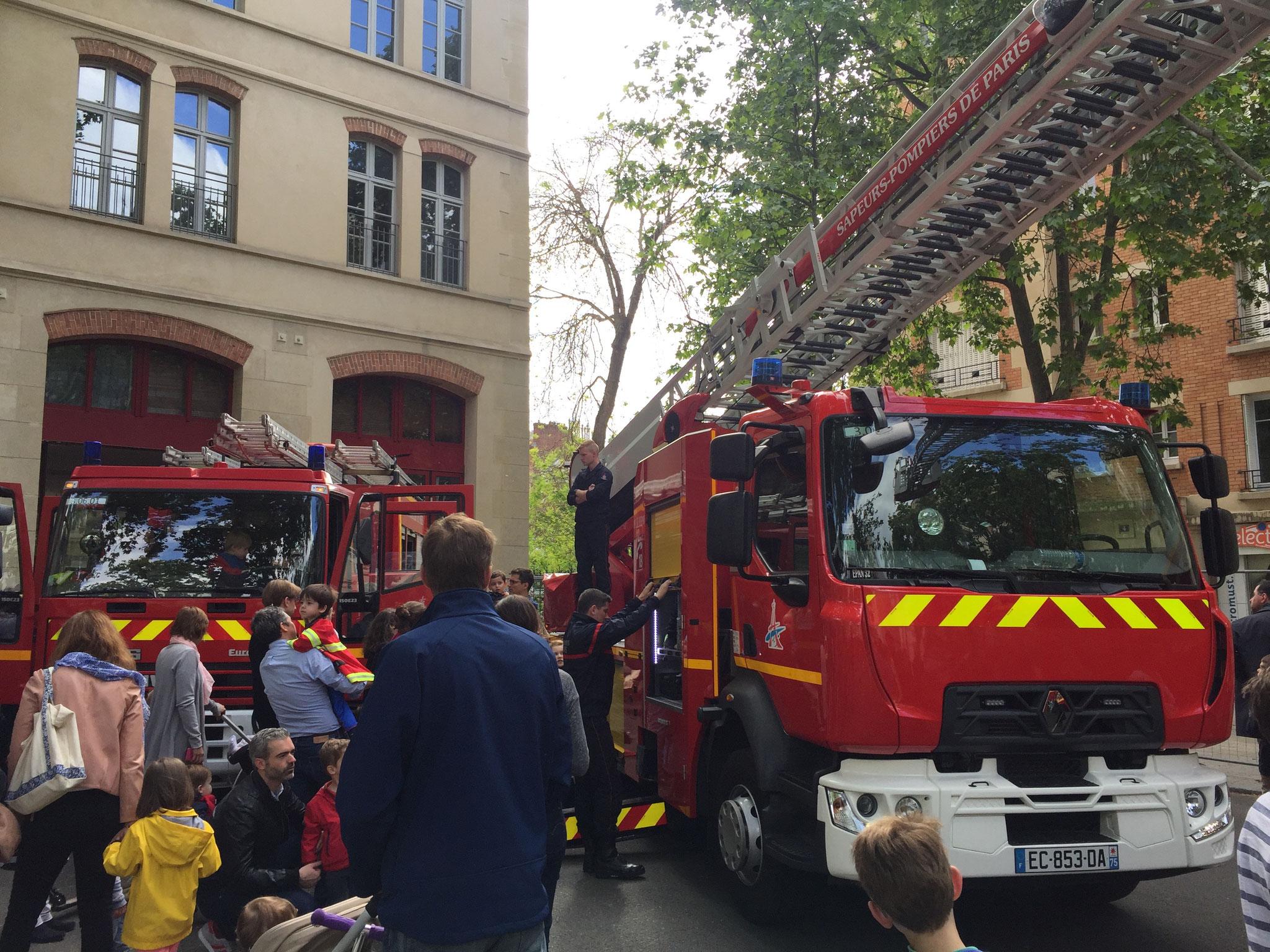 Rencontre avec les Pompiers - Journée portes ouvertes -  15è - François POTIÉ LUSSIGNY - Paris 12è Circ