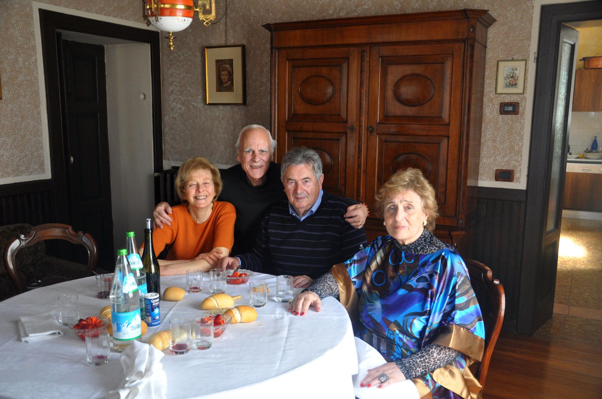 Con la familia Scaglia, en Pizzale, cerca de Milano