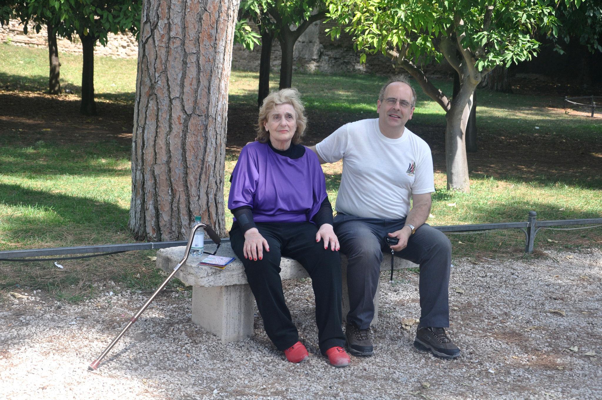 En Roma, Giardino degli Aranci