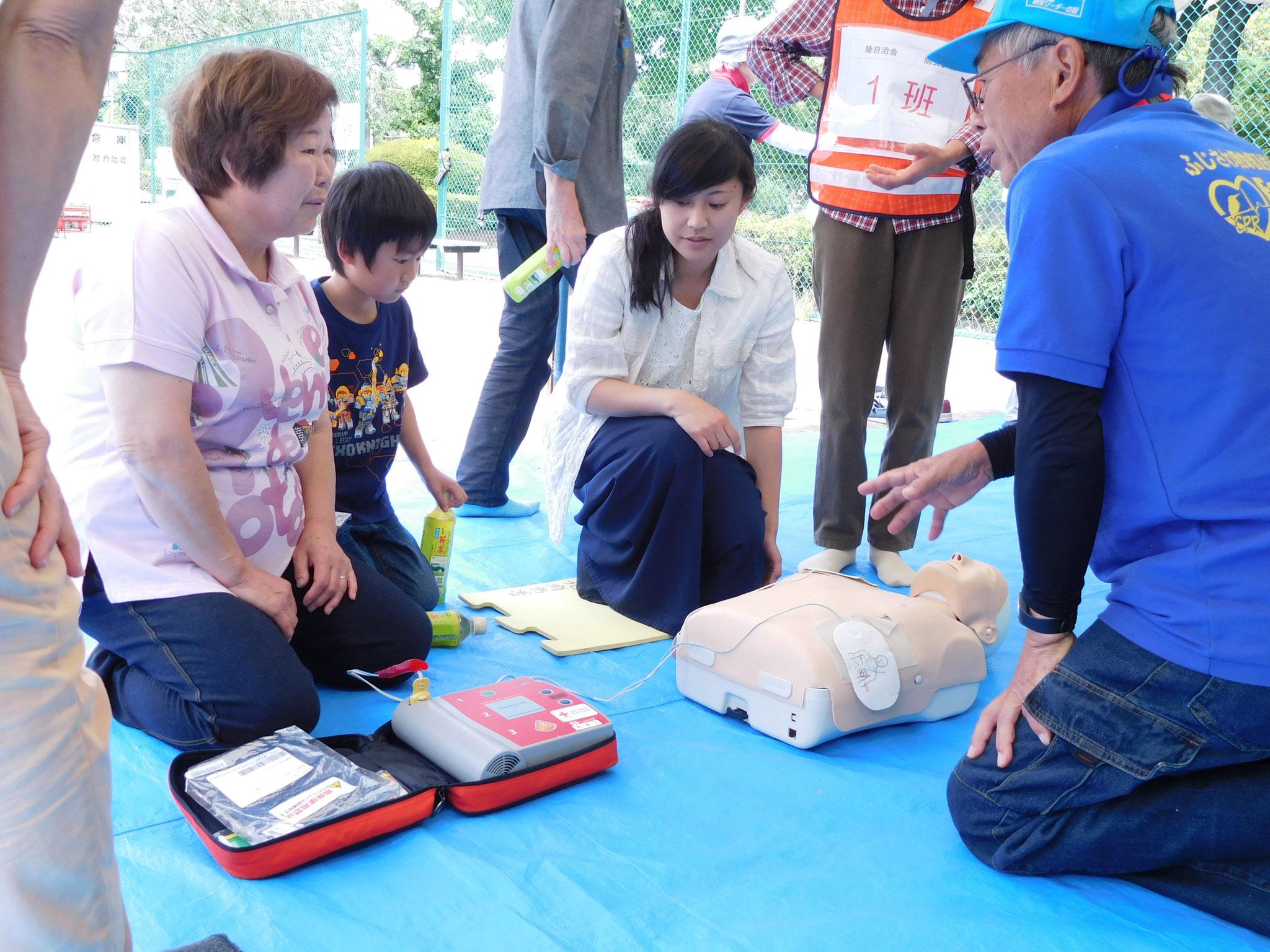 AEDによる心肺蘇生訓練