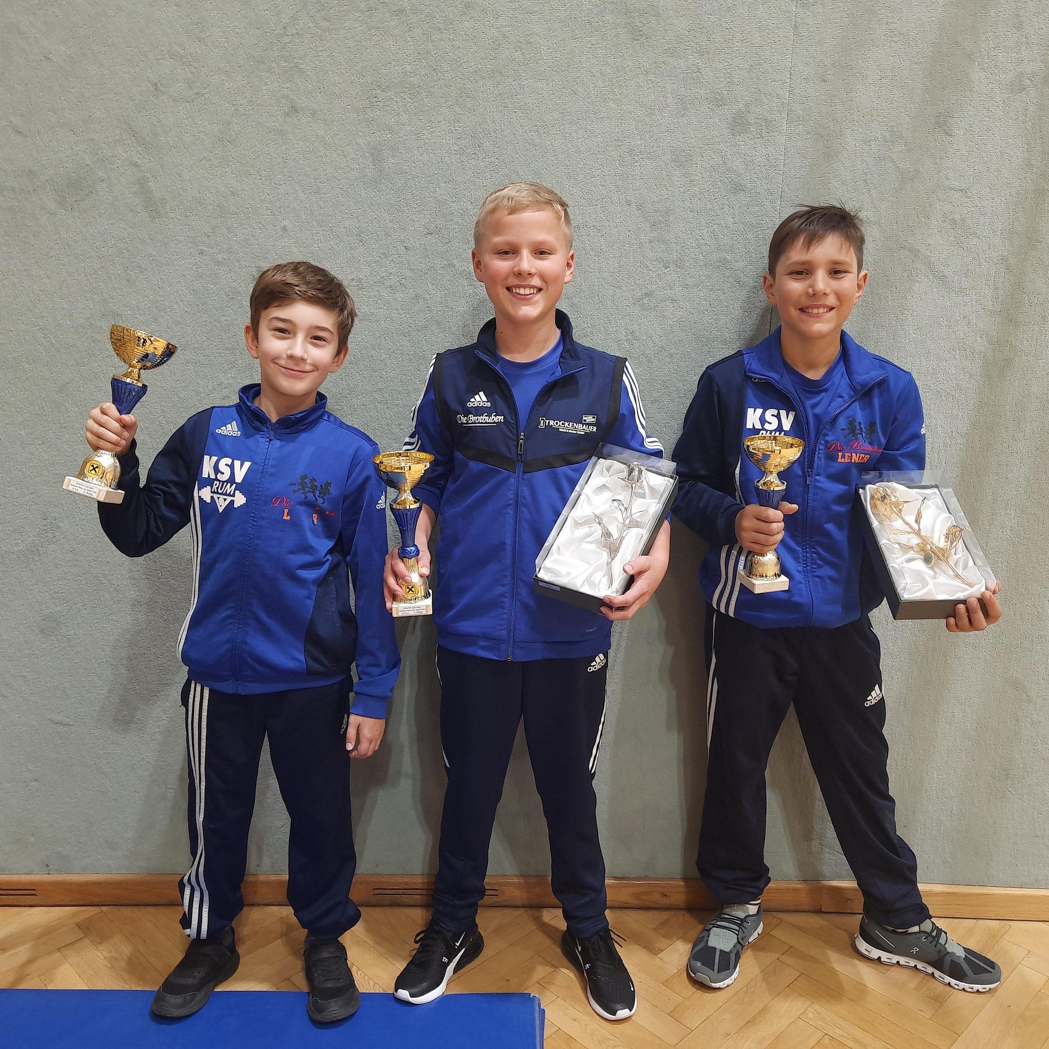 Unsere Youngsters gewinnen alle 3 Klassen und die Goldene und Silberne Rose beim Intern. Athletic-Cup Tulln