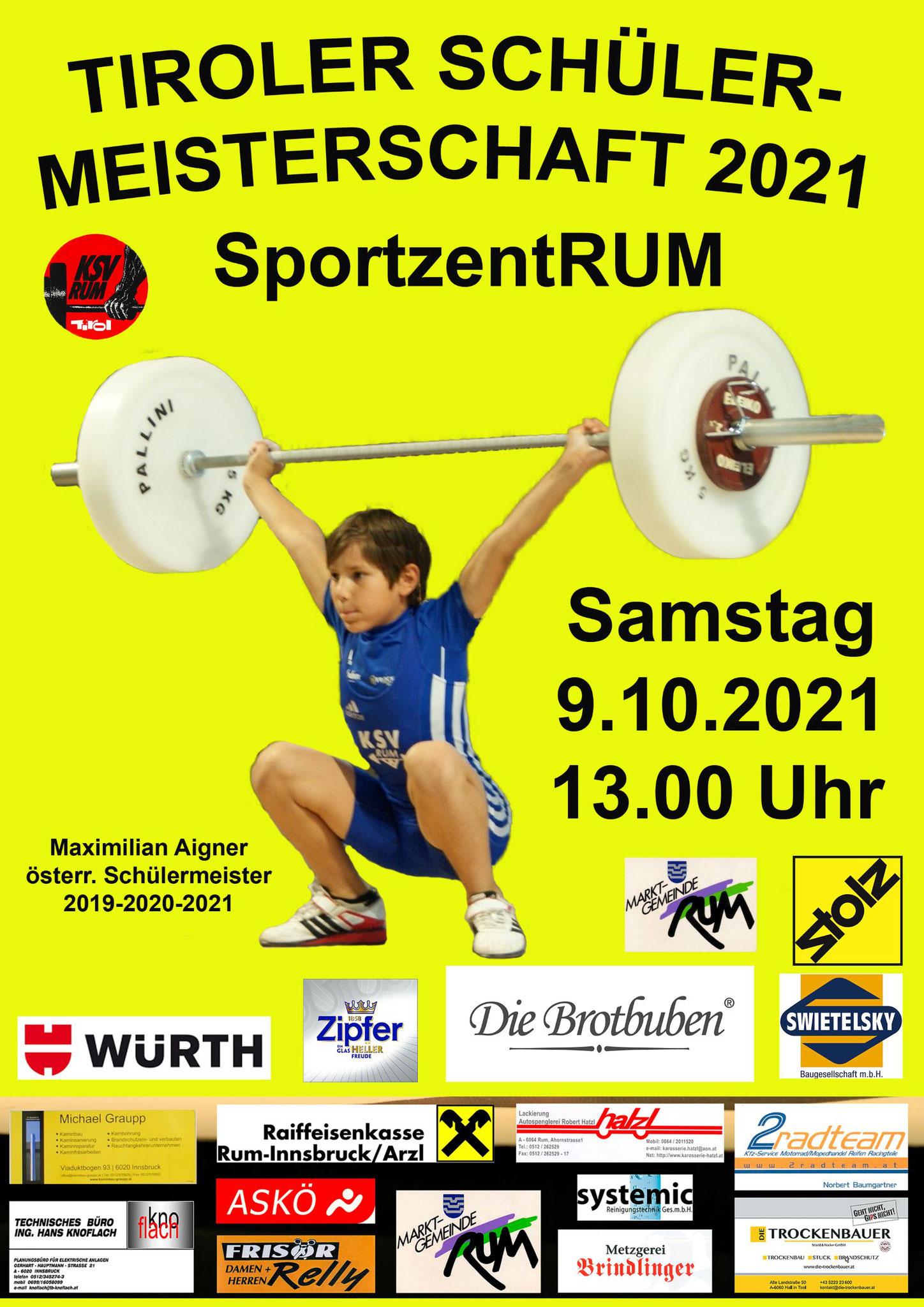 Tiroler Schülermeisterschaft 2021 - 3 x GOLD und 1 x SILBER für die KSV-Youngsters