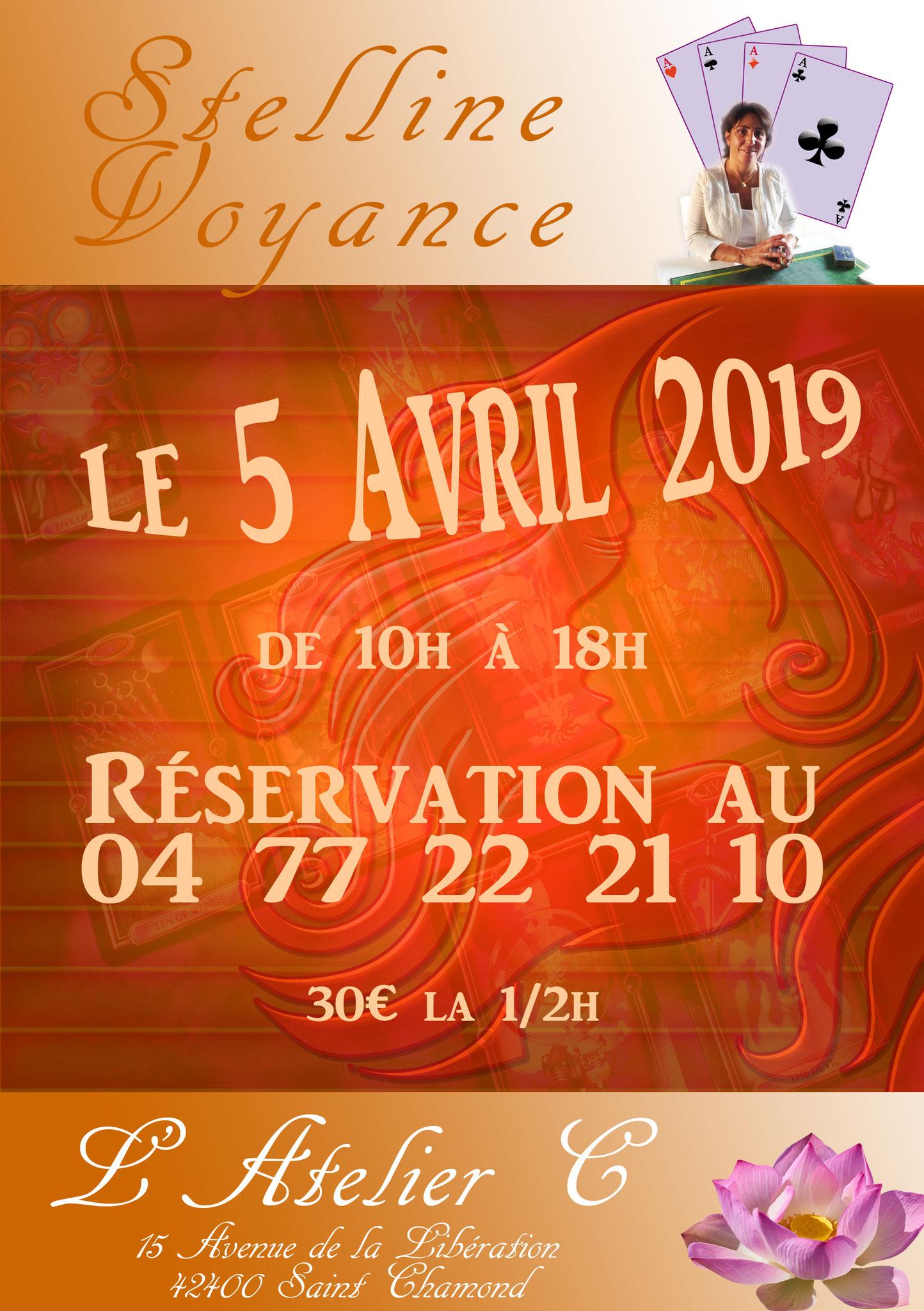 Stelline à l'Atelier C à St chamond le 5 avril 2019