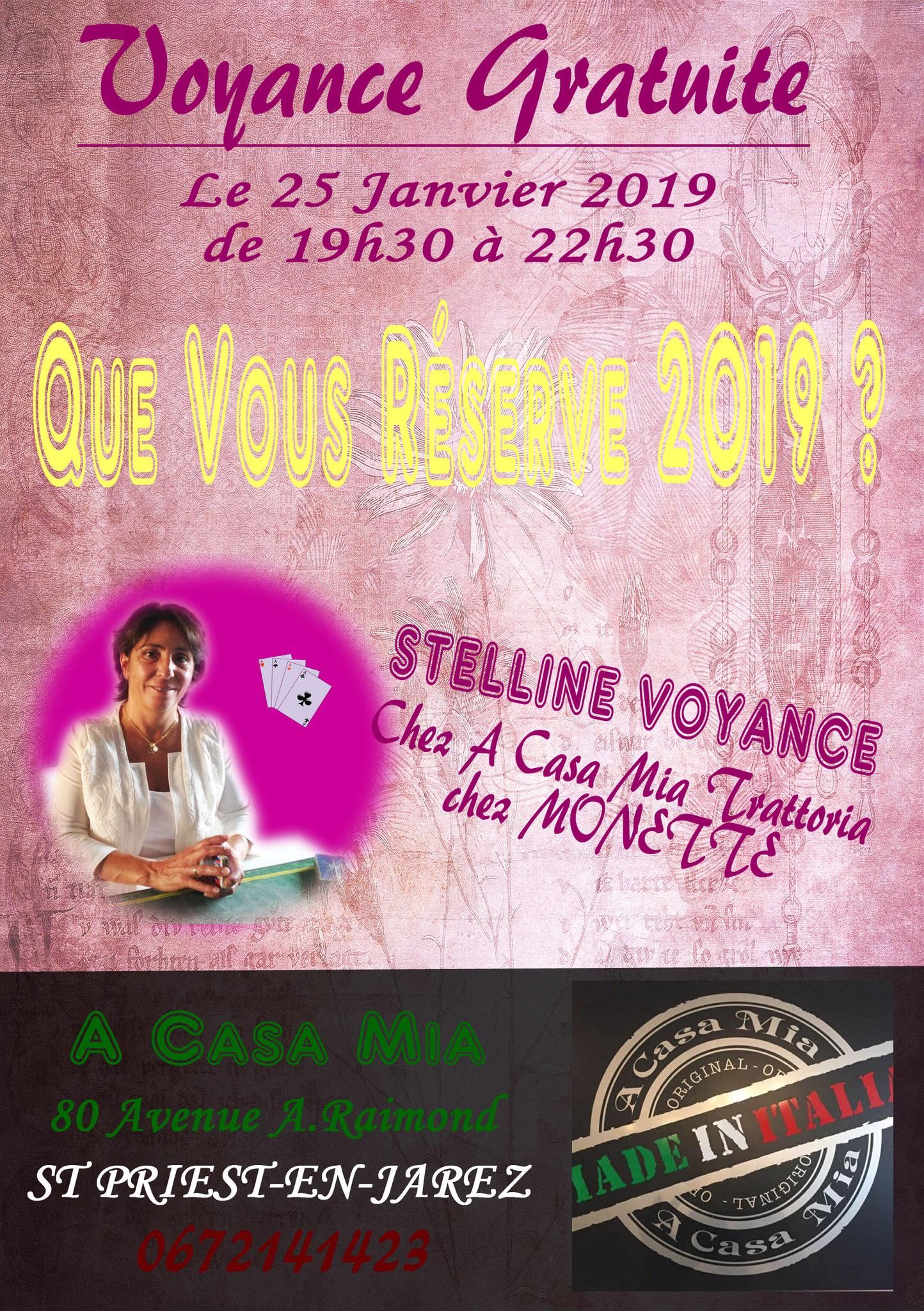 Stelline à la Casa Mia St Priest en Jarez le 25 janvier 2019