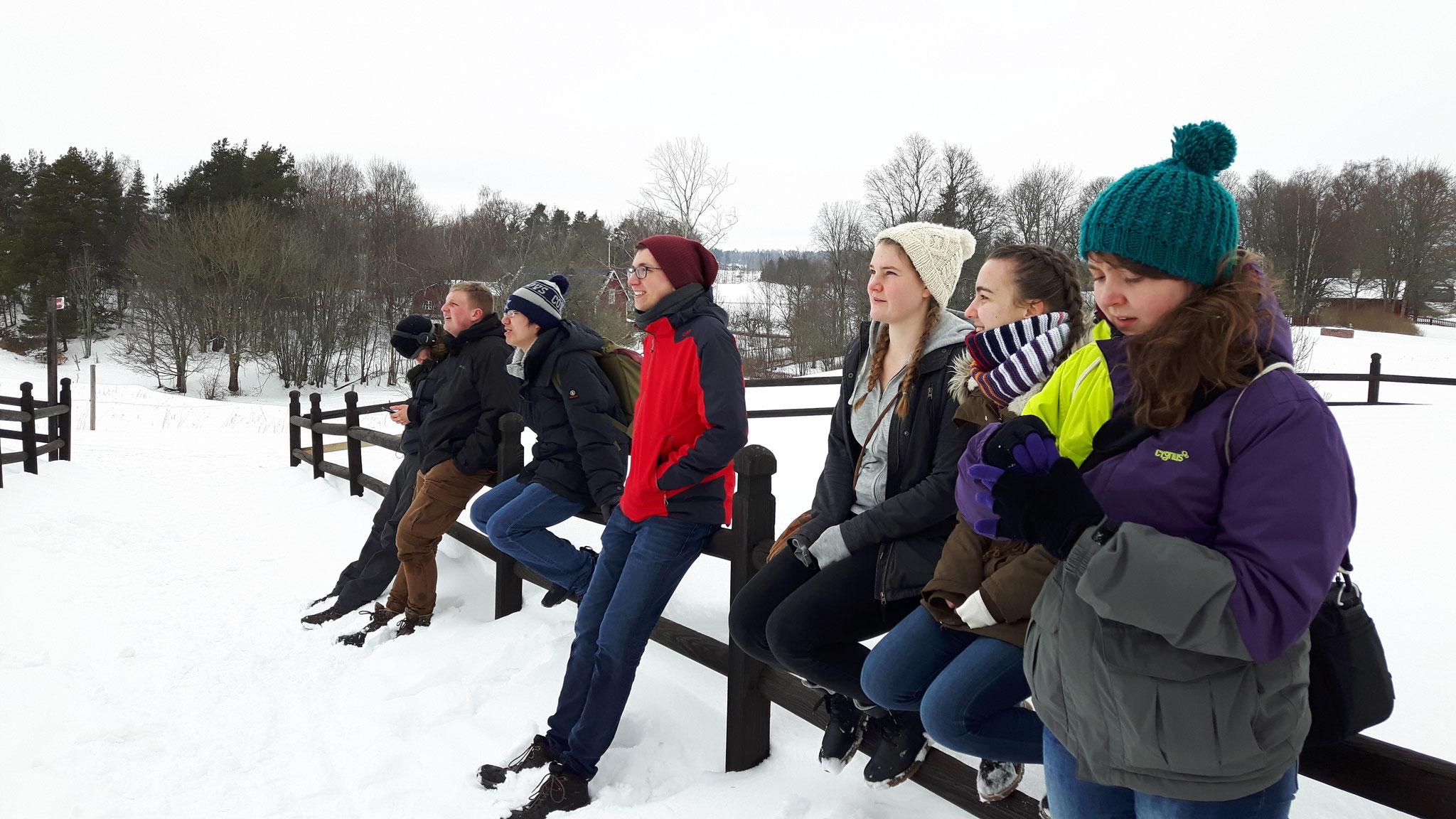 Beim Besuch der Bundesfreiwilligendienstleistenden in Gamla Uppsala