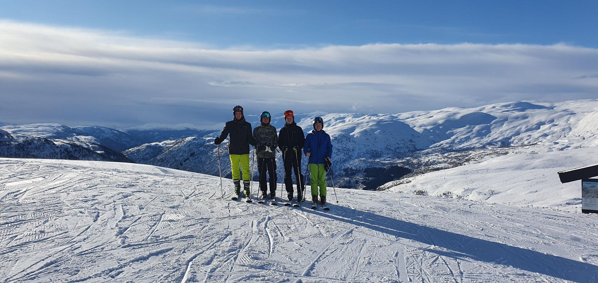 Skifahrt in Myrkdalen